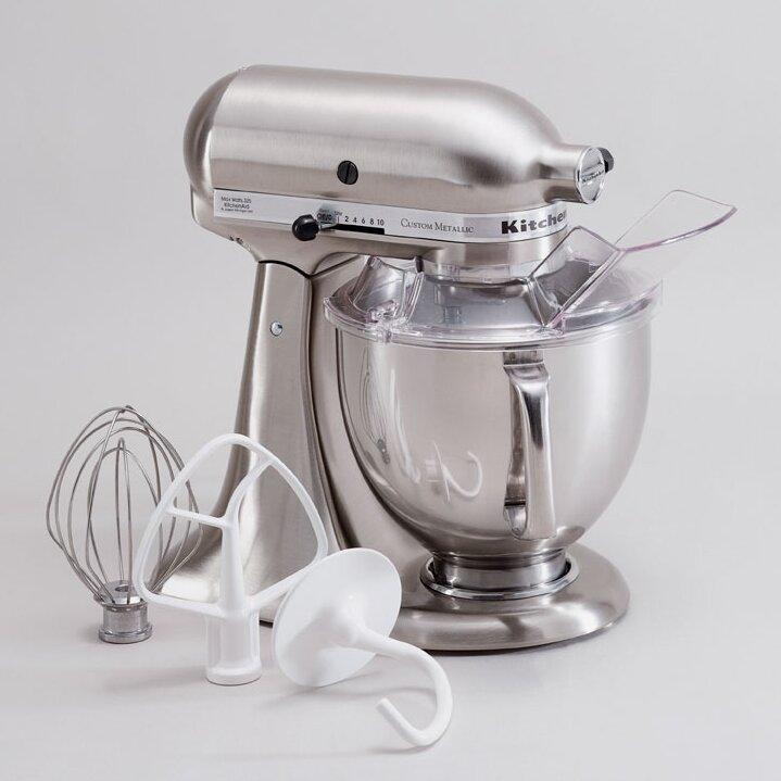 Kitchenaid custom metallic 5 qt 325 watt tilt back head stand mixer reviews wayfair - Kitchenaid qt mixer review ...