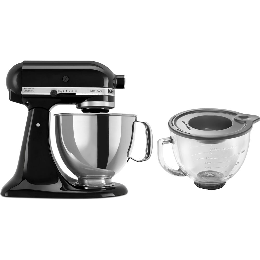 kitchenaid artisan series 5 qt stand mixer with stainless steel glass bowls reviews wayfair. Black Bedroom Furniture Sets. Home Design Ideas