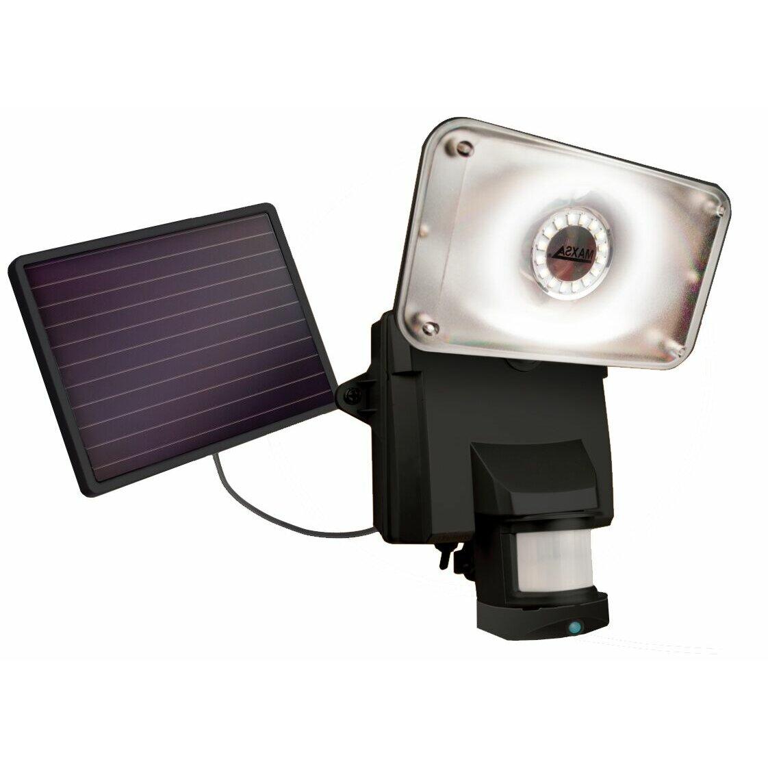 Maxsa Solar Security Video Camera LED Flood Light