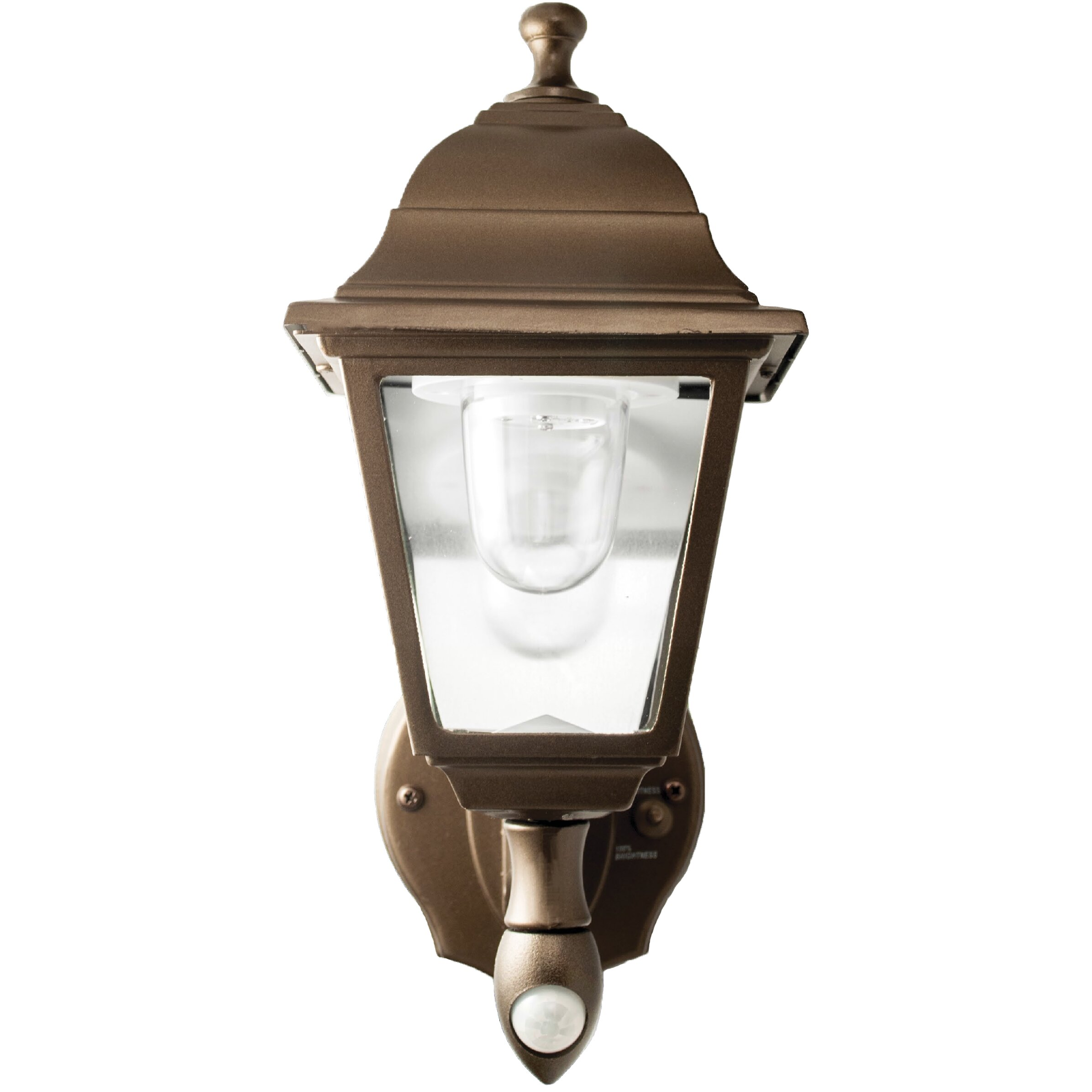 Maxsa battery powered motion activated 1 light outdoor sconce reviews wayfair - Battery operated wall light sconces ...