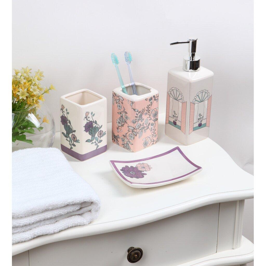 luxury home fantasy 4-piece bathroom accessory set   wayfair