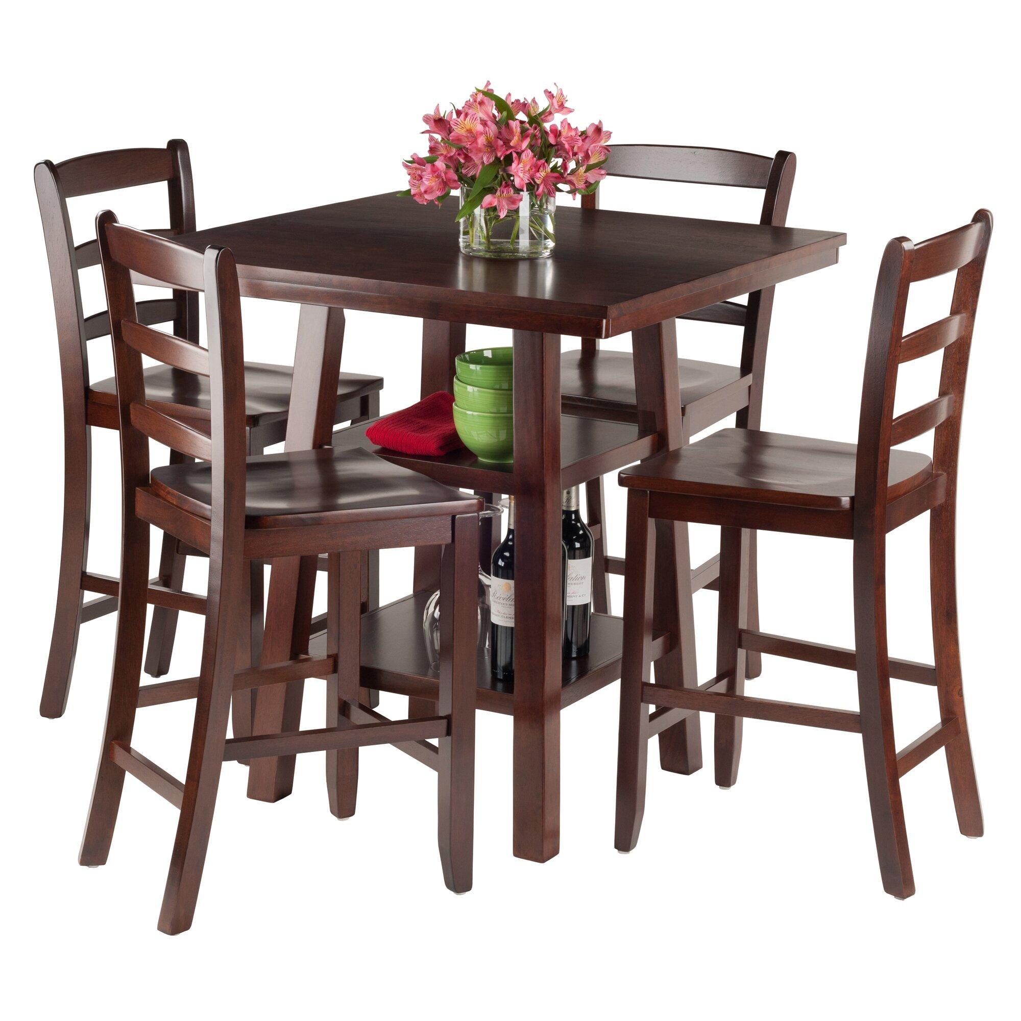 luxury home orlando 5 piece pub table set wayfair. Black Bedroom Furniture Sets. Home Design Ideas
