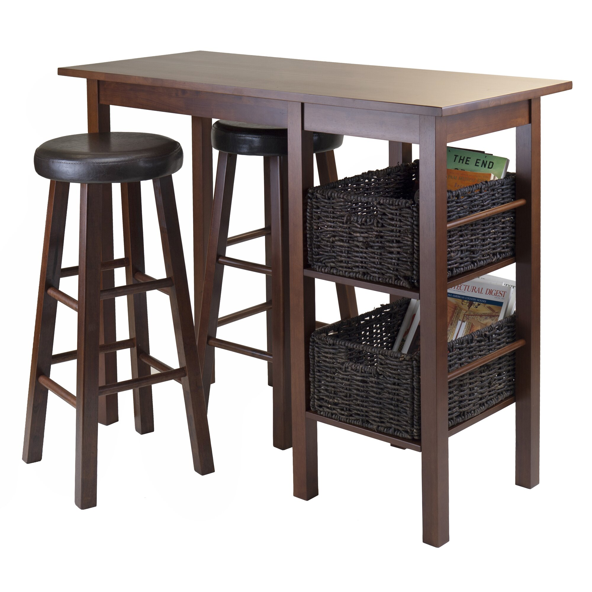 Luxury Home Egan 3 Piece Pub Table Set Wayfair
