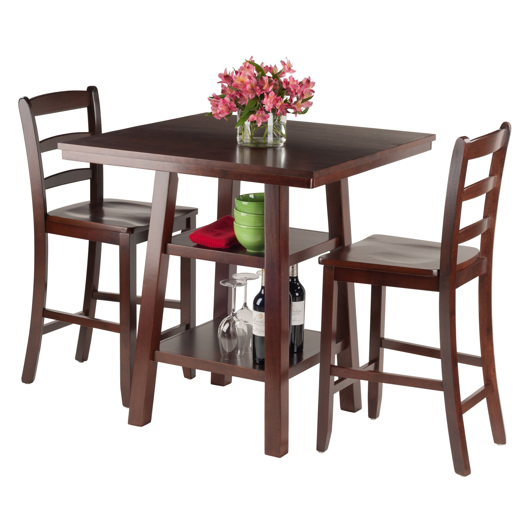 Luxury Home Orlando 3 Piece Pub Table Set Reviews Wayfair