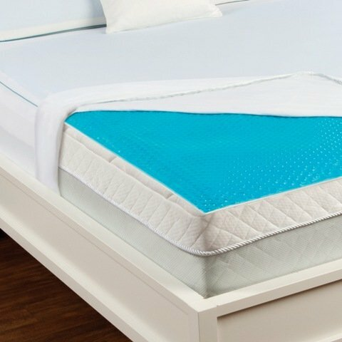 luxury home hydraluxe cooling gel bed mattress pad. Black Bedroom Furniture Sets. Home Design Ideas