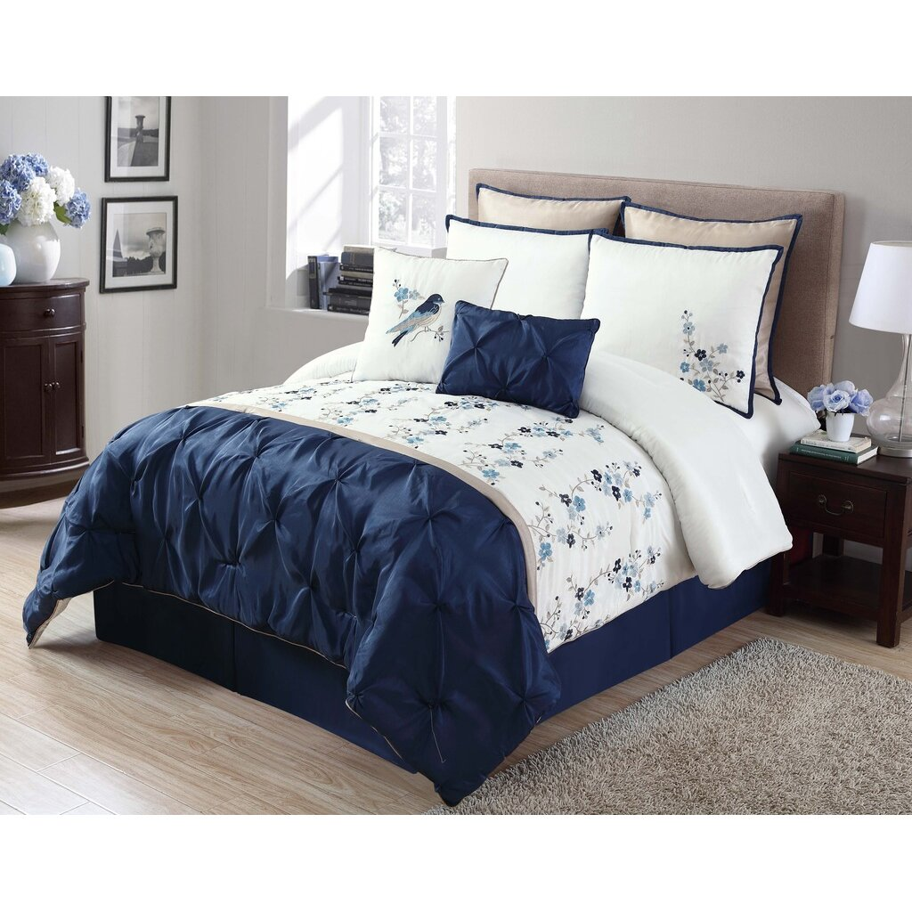 Luxury Home Lydia 8 Piece Comforter Set Wayfair Ca