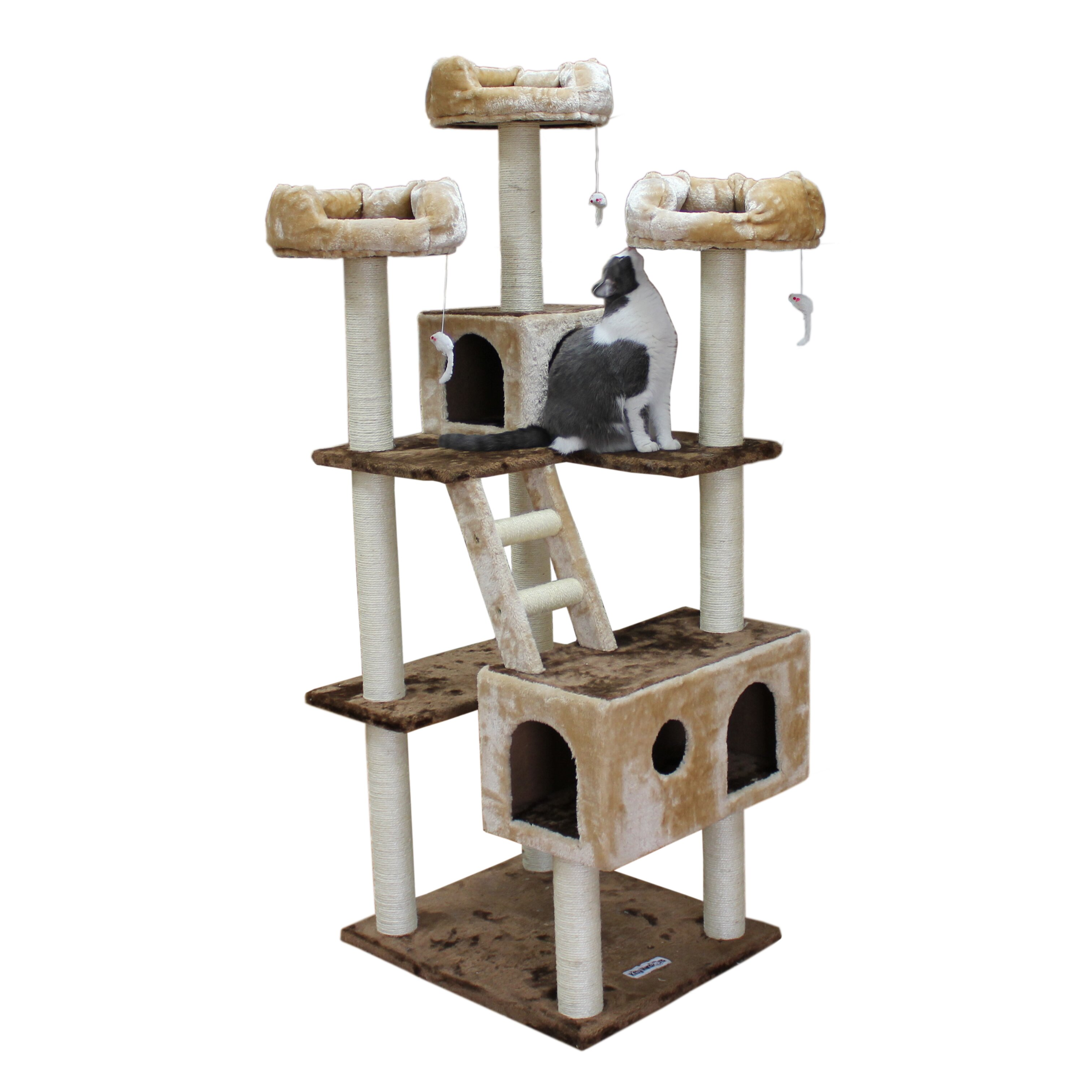 Kitty mansions 73 beverly hills cat tree reviews wayfair for Pictures of cat trees