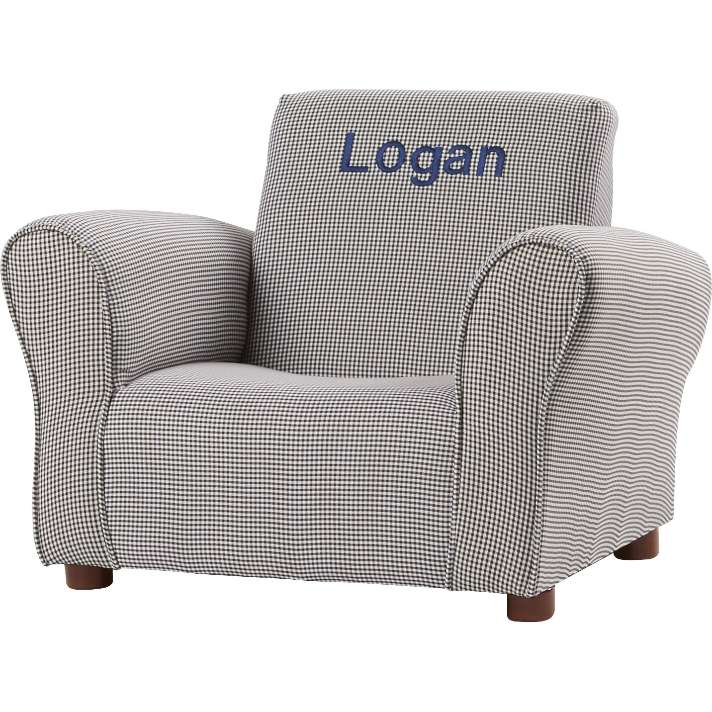 Personalized upholstered toddler chair personalized for Personalized kids soft chairs