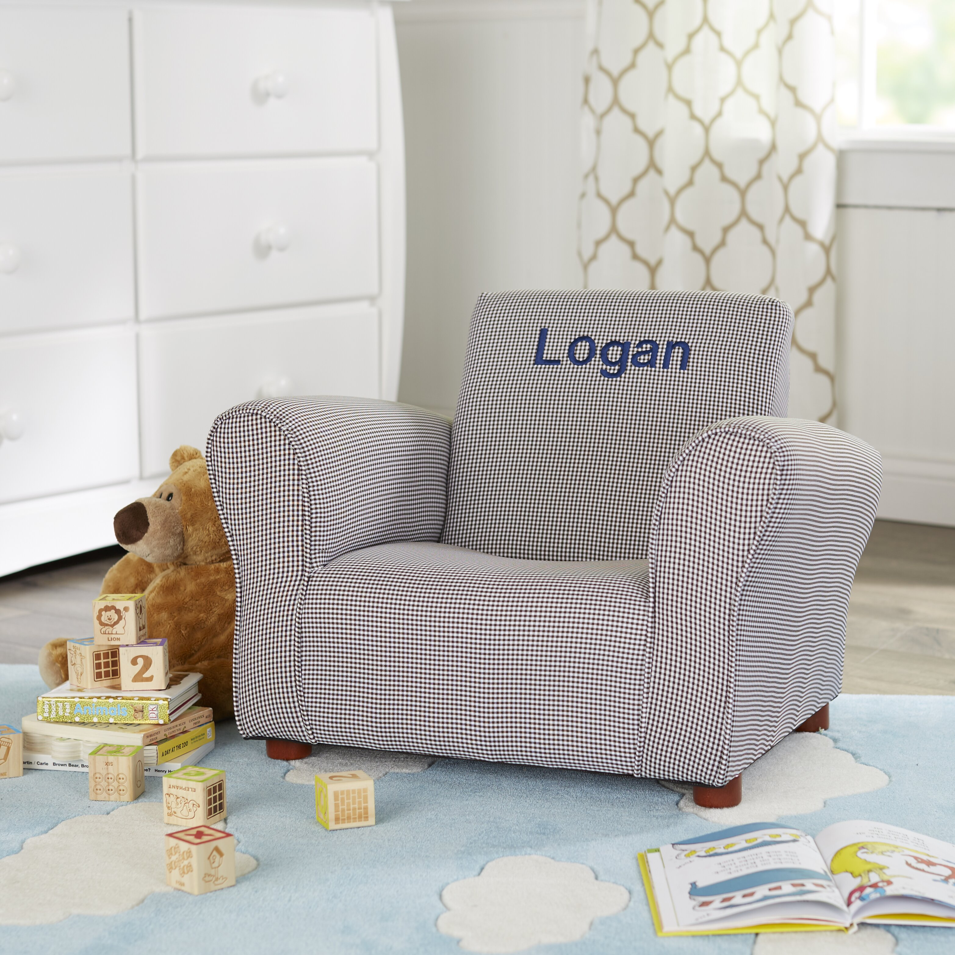 Keet little furniture personalized kids club chair for Kids upholstered chair