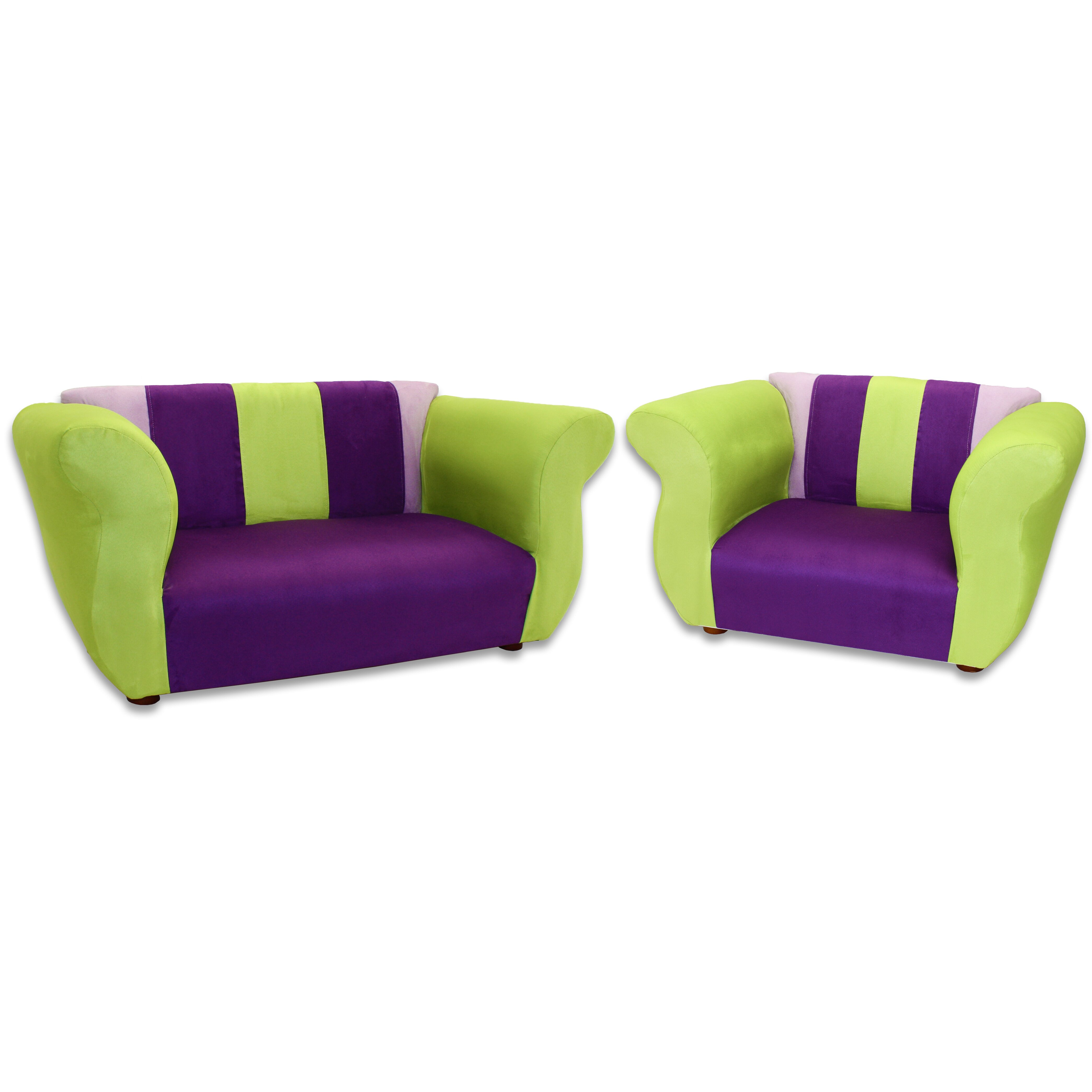 Keet Fancy 2 Piece Kids Sofa And Chair Set Reviews Wayfair