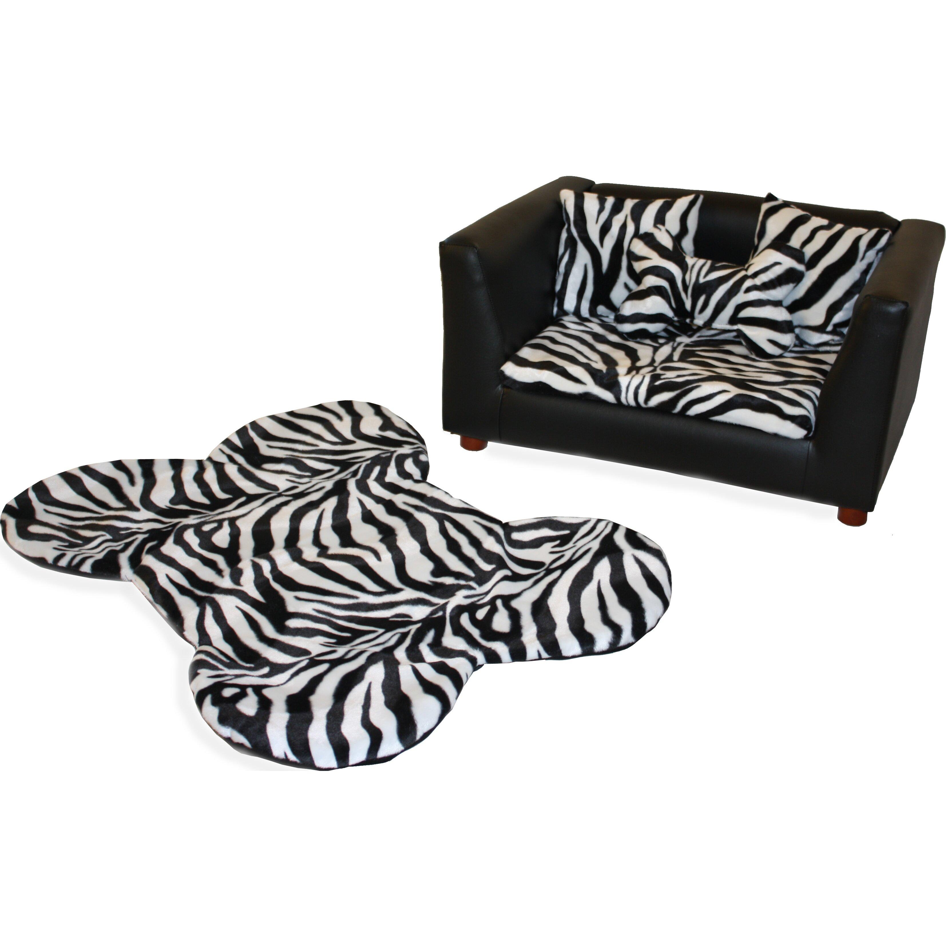 keet deluxe orthopedic zebra memory foam dog chair set. Black Bedroom Furniture Sets. Home Design Ideas