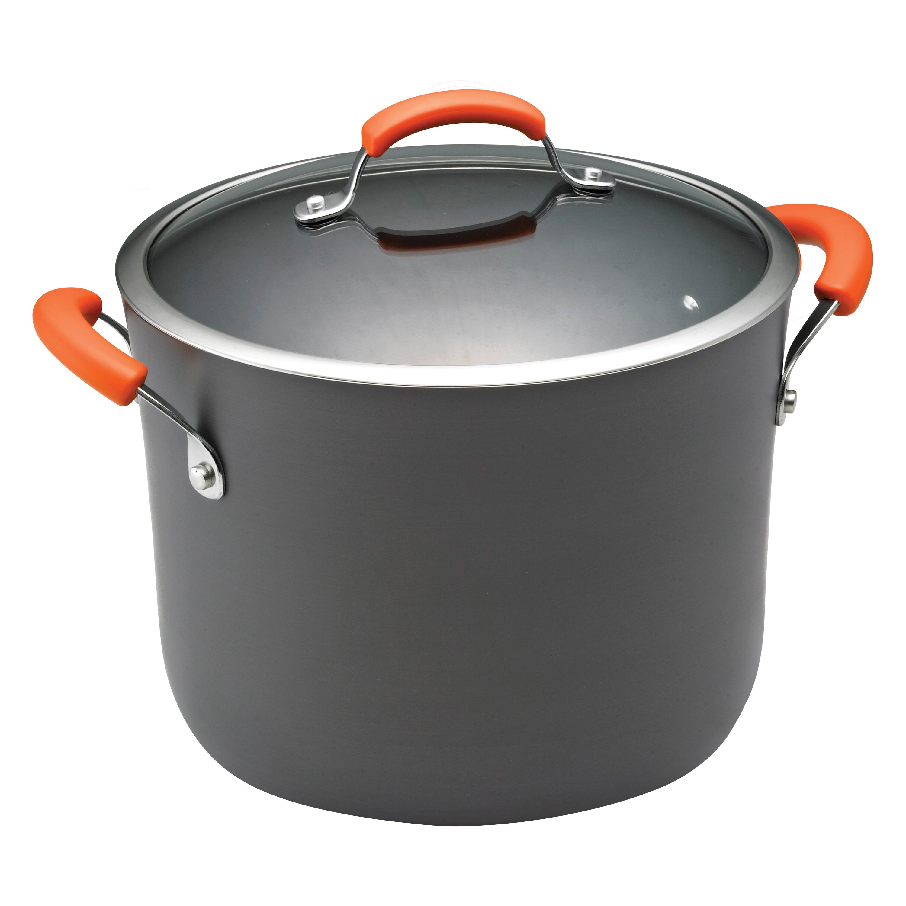 rachael ray hard anodized ii 10 qt stock pot with lid reviews wayfair. Black Bedroom Furniture Sets. Home Design Ideas