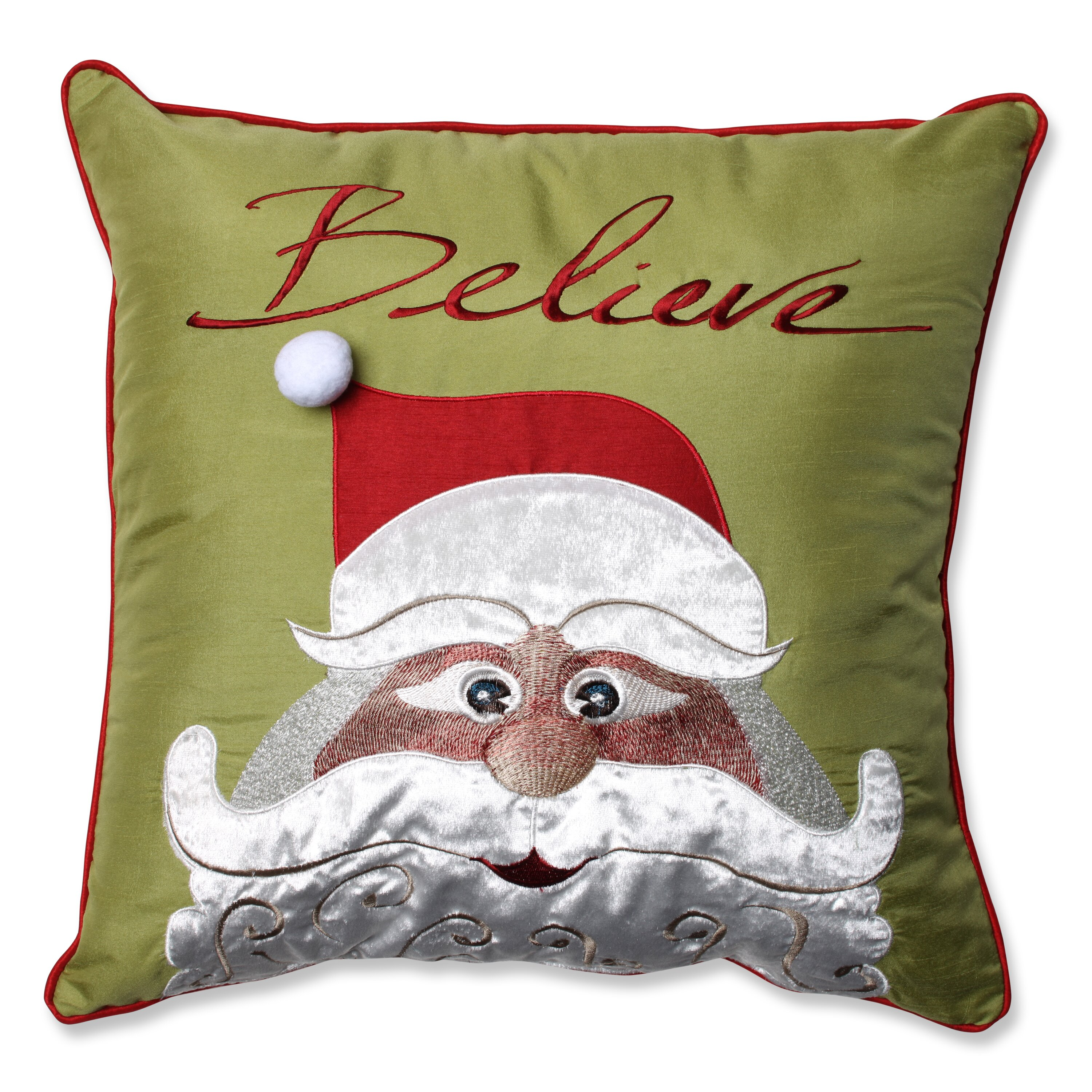 Pillow Perfect Christmas Santa Believe Throw Pillow & Reviews Wayfair