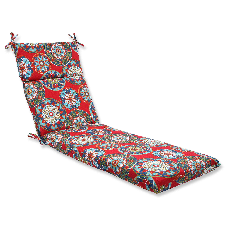 Pillow perfect cera garden outdoor chaise lounge cushion for Buy chaise lounge cushion