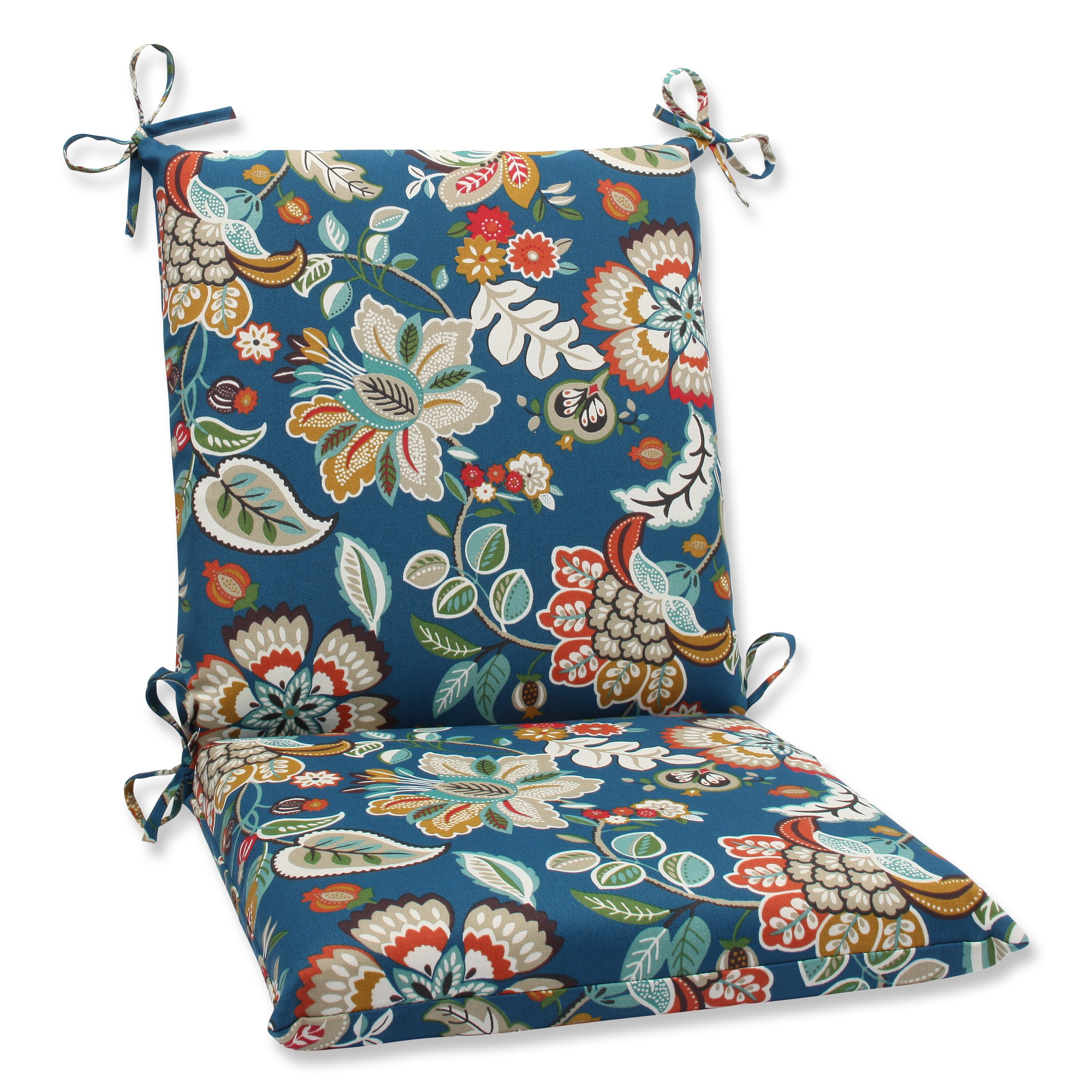 Pillow Perfect Telfair Peacock Outdoor Lounge Chair