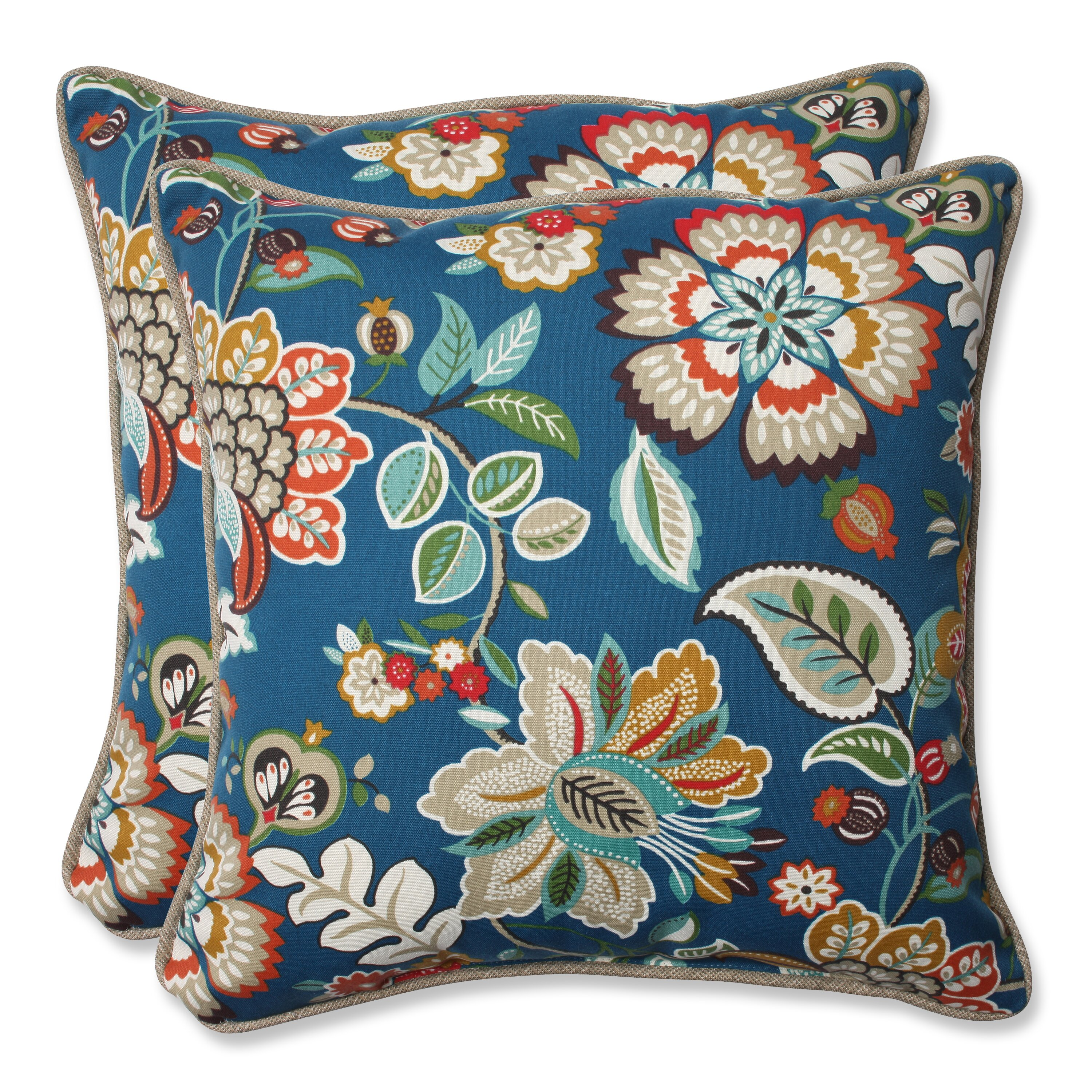 Throw Pillows In Abuja : Pillow Perfect Telfair Peacock Indoor/Outdoor Throw Pillow & Reviews Wayfair