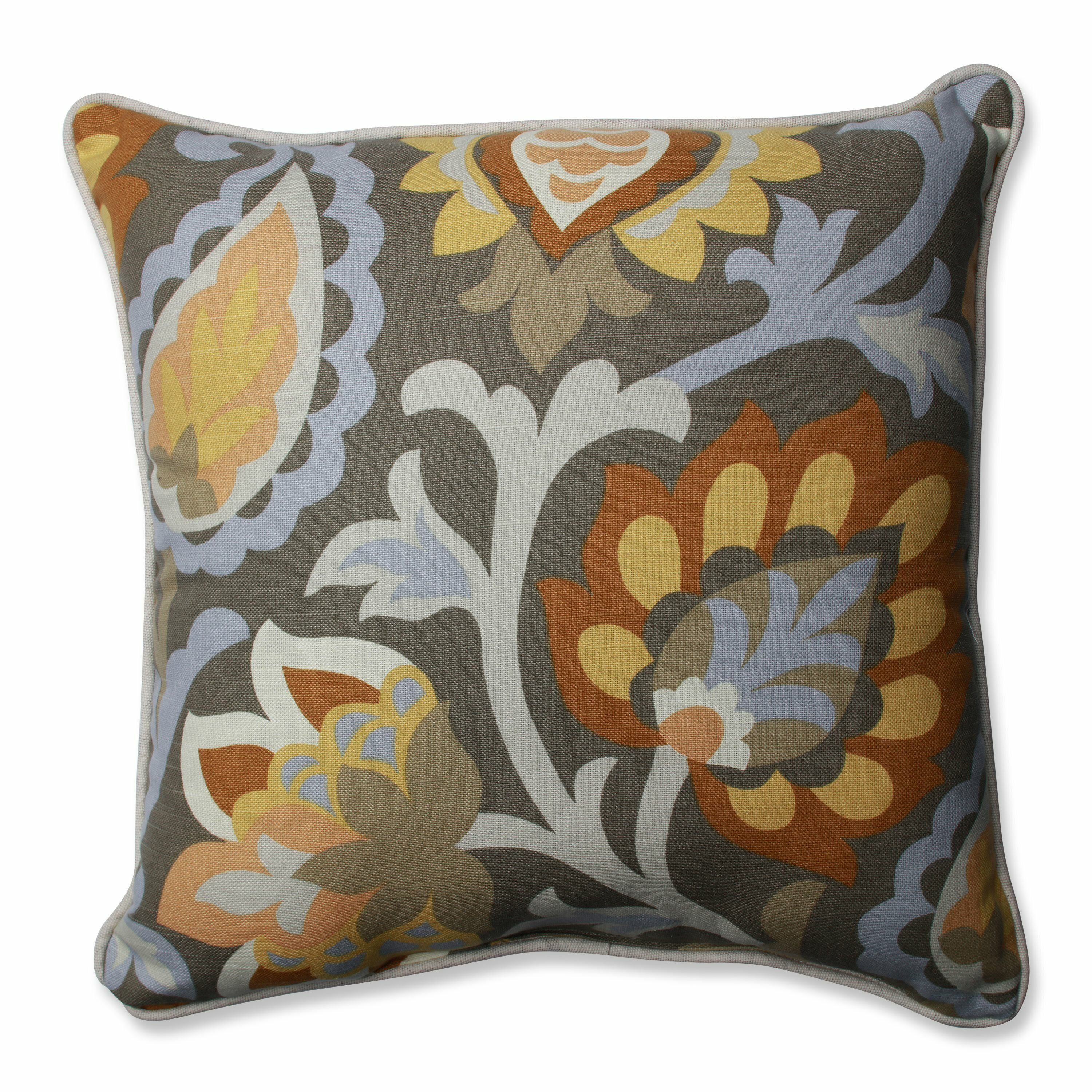 Dynasty Decorative Pillows : Pillow Perfect Dynasty Frost Throw Pillow Wayfair