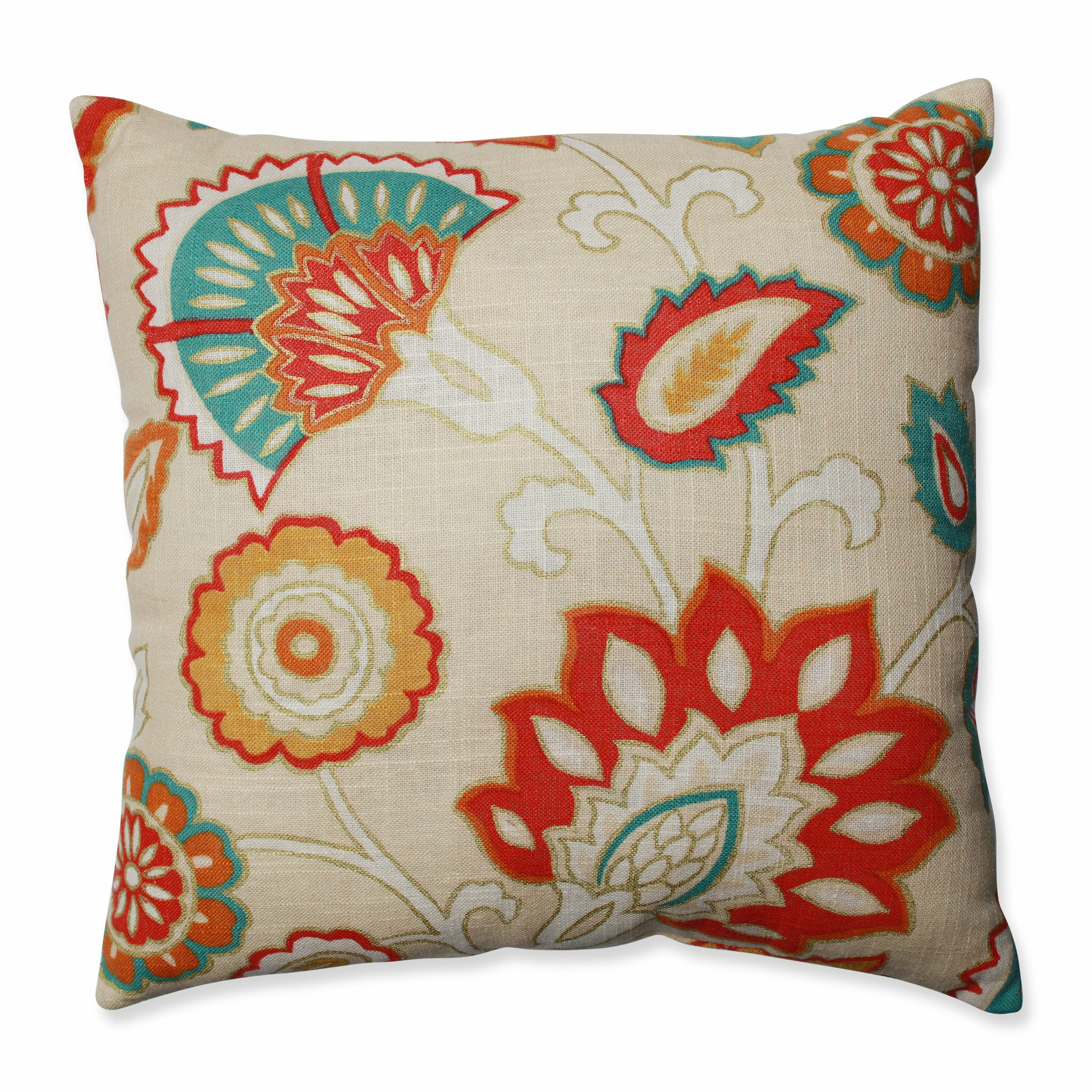 Wayfair Teal Throw Pillows : Pillow Perfect Myanmar Fiesta Throw Pillow & Reviews Wayfair