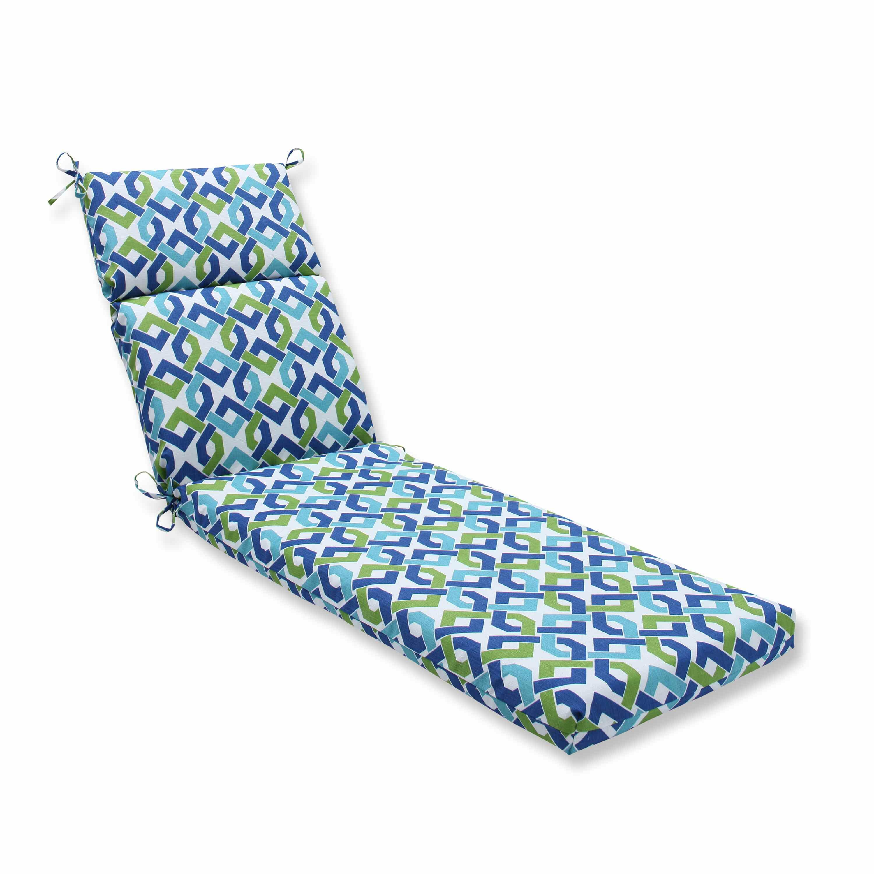Pillow perfect reiser outdoor chaise lounge cushion wayfair for Chaise cushions on sale