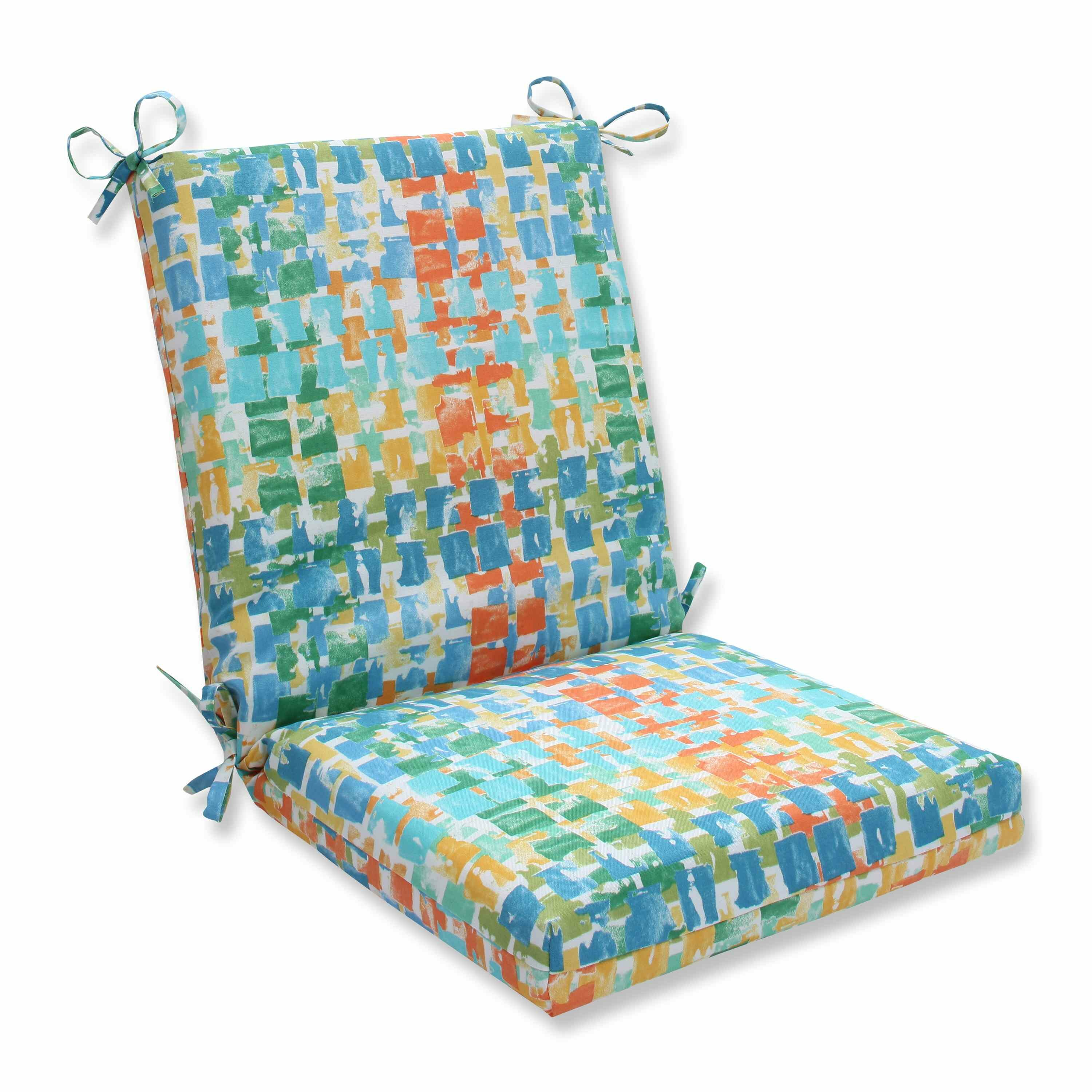 Pillow Perfect Quibble Sunsplash Outdoor Dining Chair Cushion