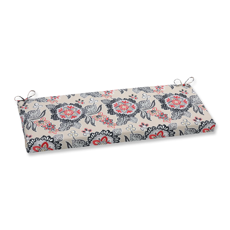 Pillow Perfect Tilt And Twirl Ebony Outdoor Bench Cushion Wayfair