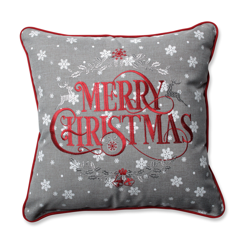 Pillow Perfect Snowy Christmas Throw Pillow & Reviews ...