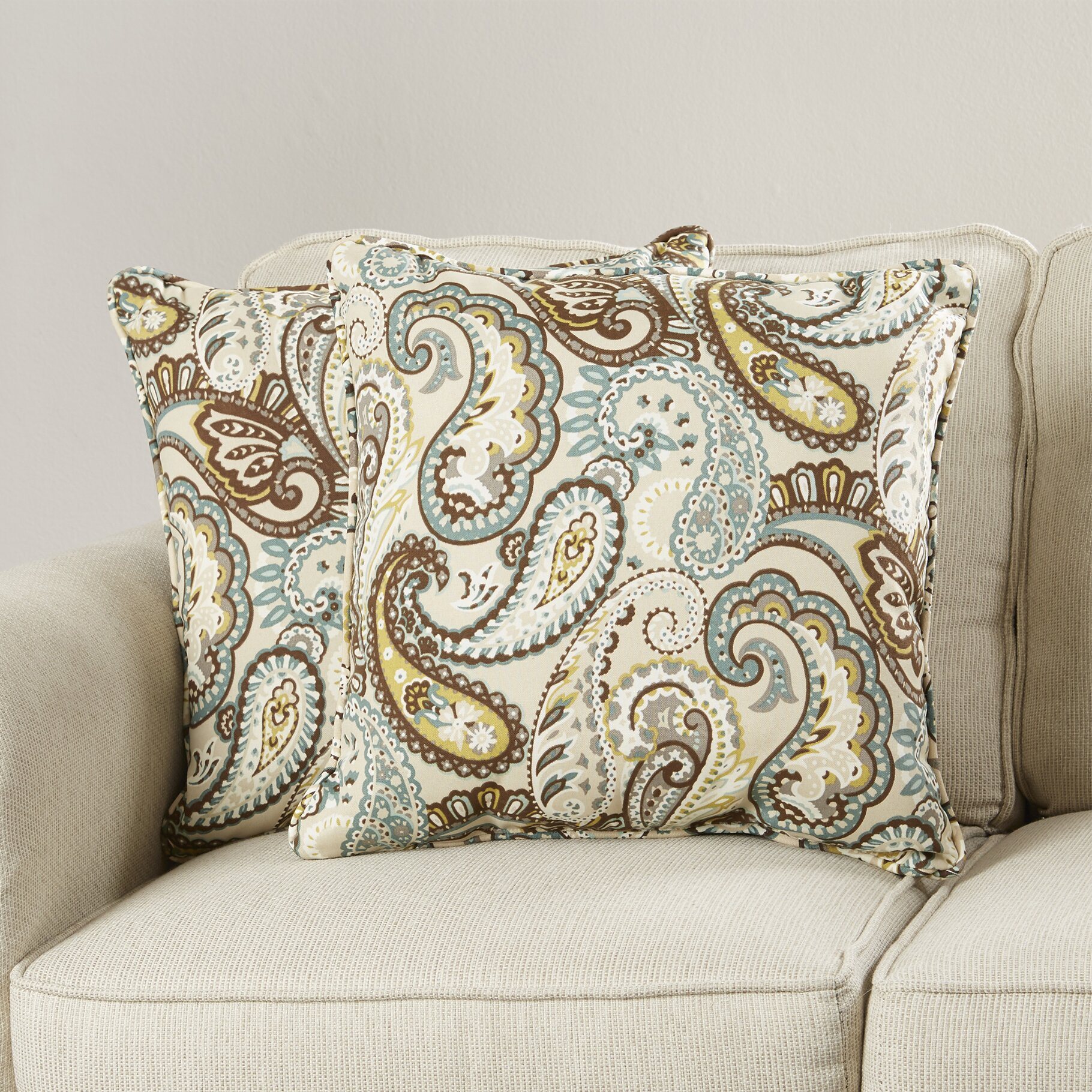 Indoor Outdoor Decorative Pillows : Pillow Perfect Tamara Indoor/Outdoor Throw Pillow & Reviews Wayfair
