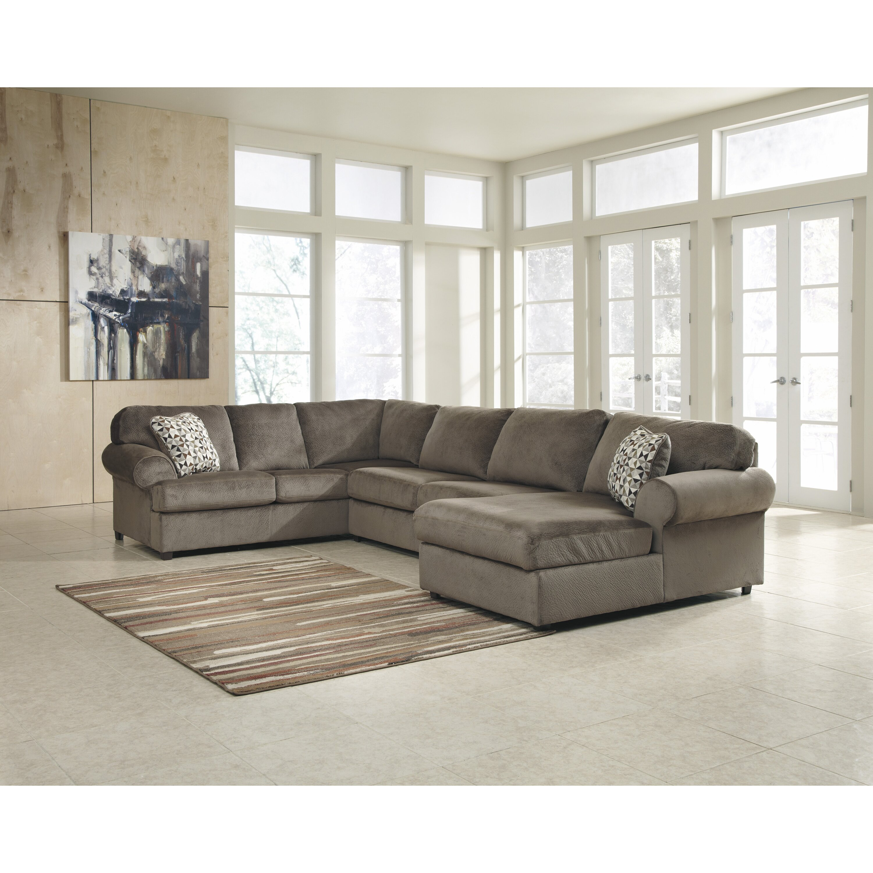 Surprising Jessa Place Sectional Freestyle Pewter Sectional Living Alphanode Cool Chair Designs And Ideas Alphanodeonline