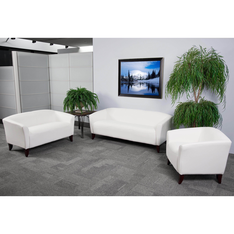 Flash Furniture Hercules Imperial Series Leather Sofa Reviews Wayfair Supply