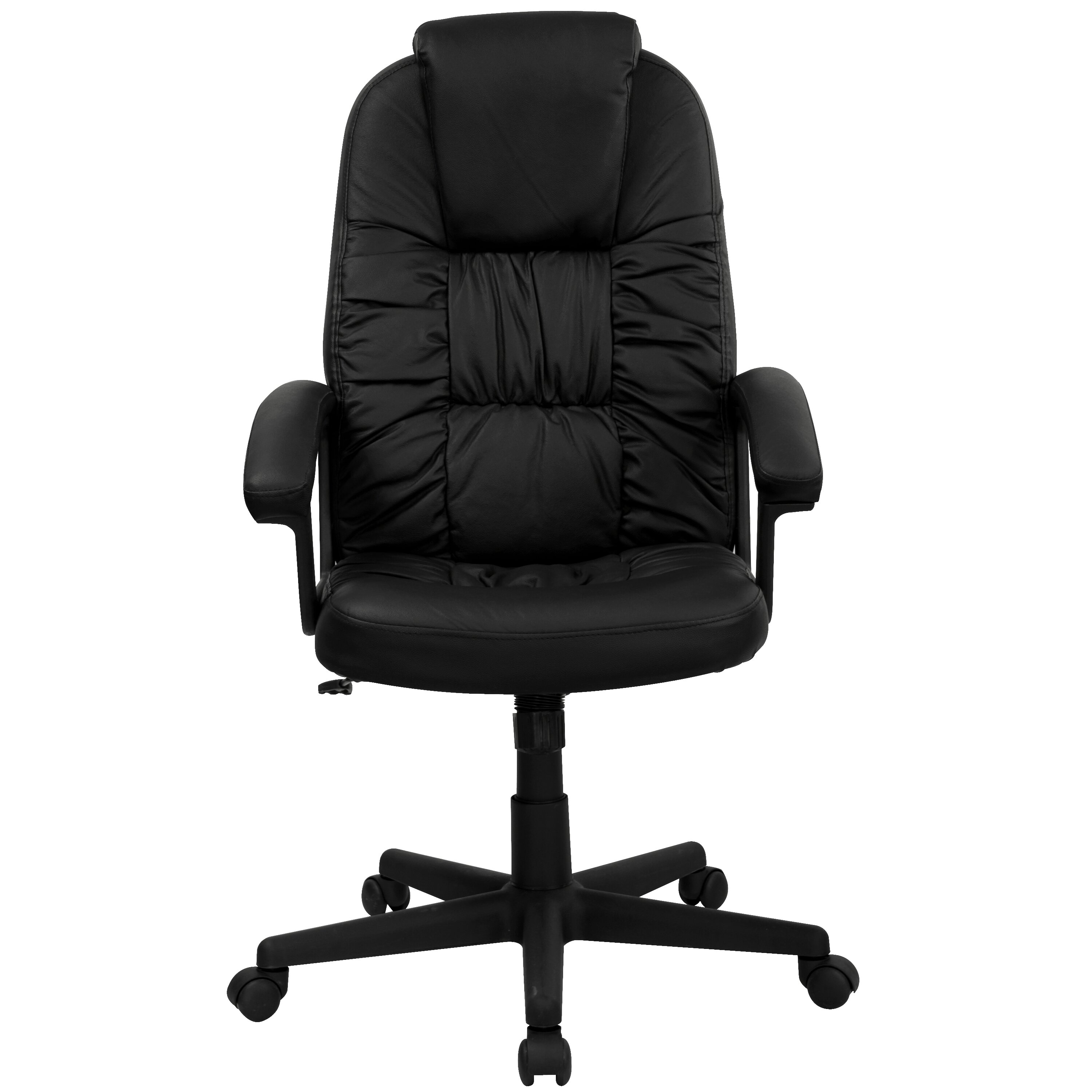 Flash furniture high back leather swivel executive chair for High back leather chairs
