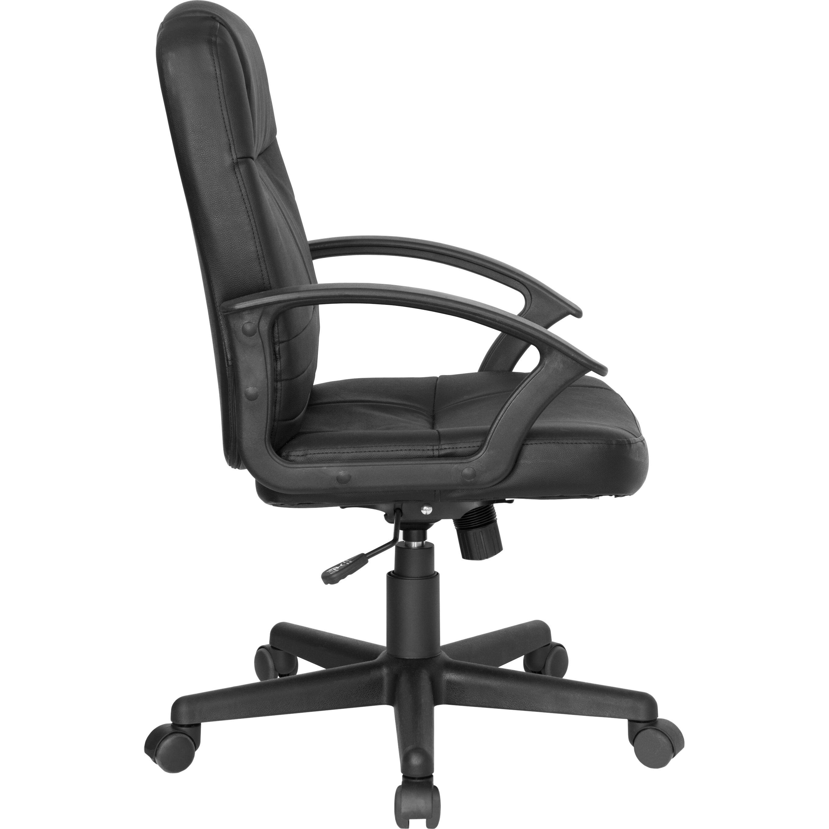 Flash Furniture Leather Desk Chair Reviews Wayfair Supply