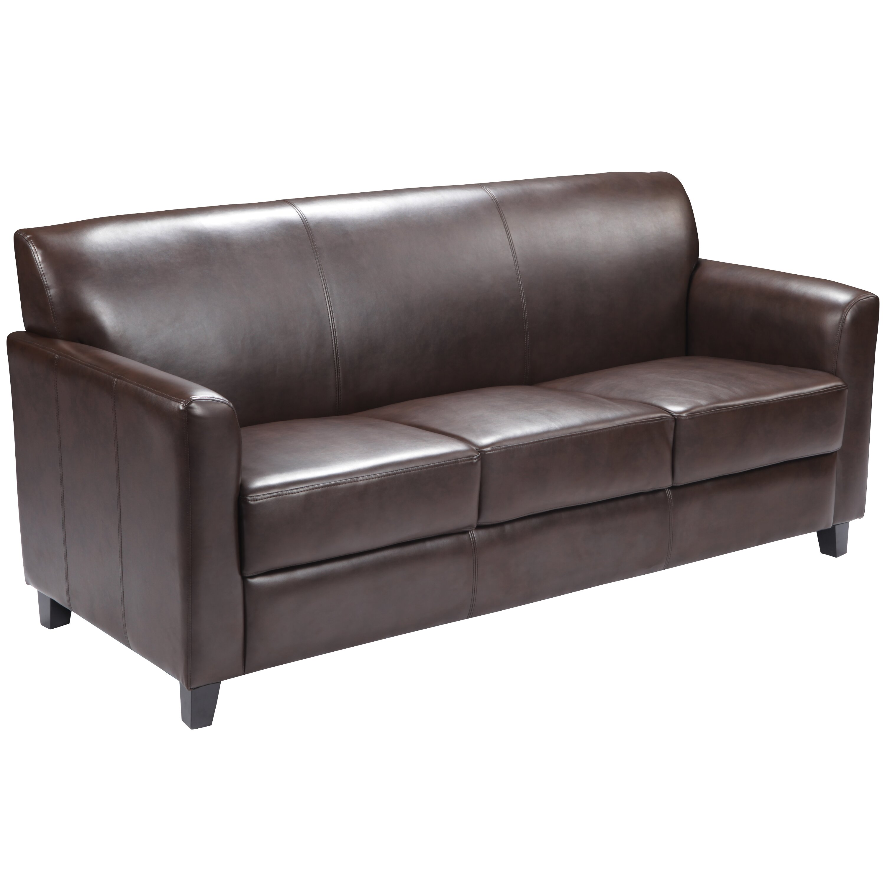 Flash furniture hercules diplomat series leather sofa for Couch furniture