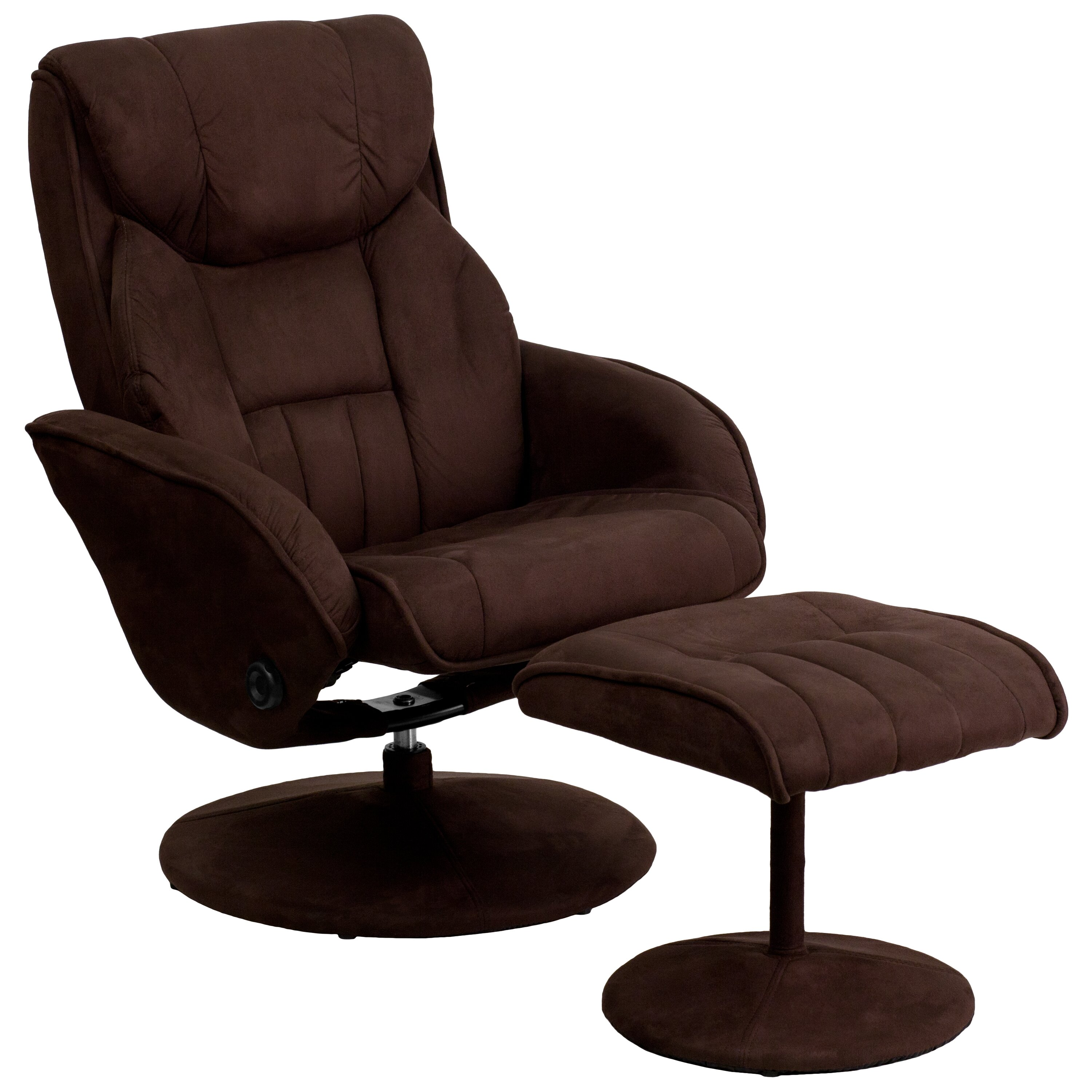 Flash Furniture Contemporary Microfiber Recliner And