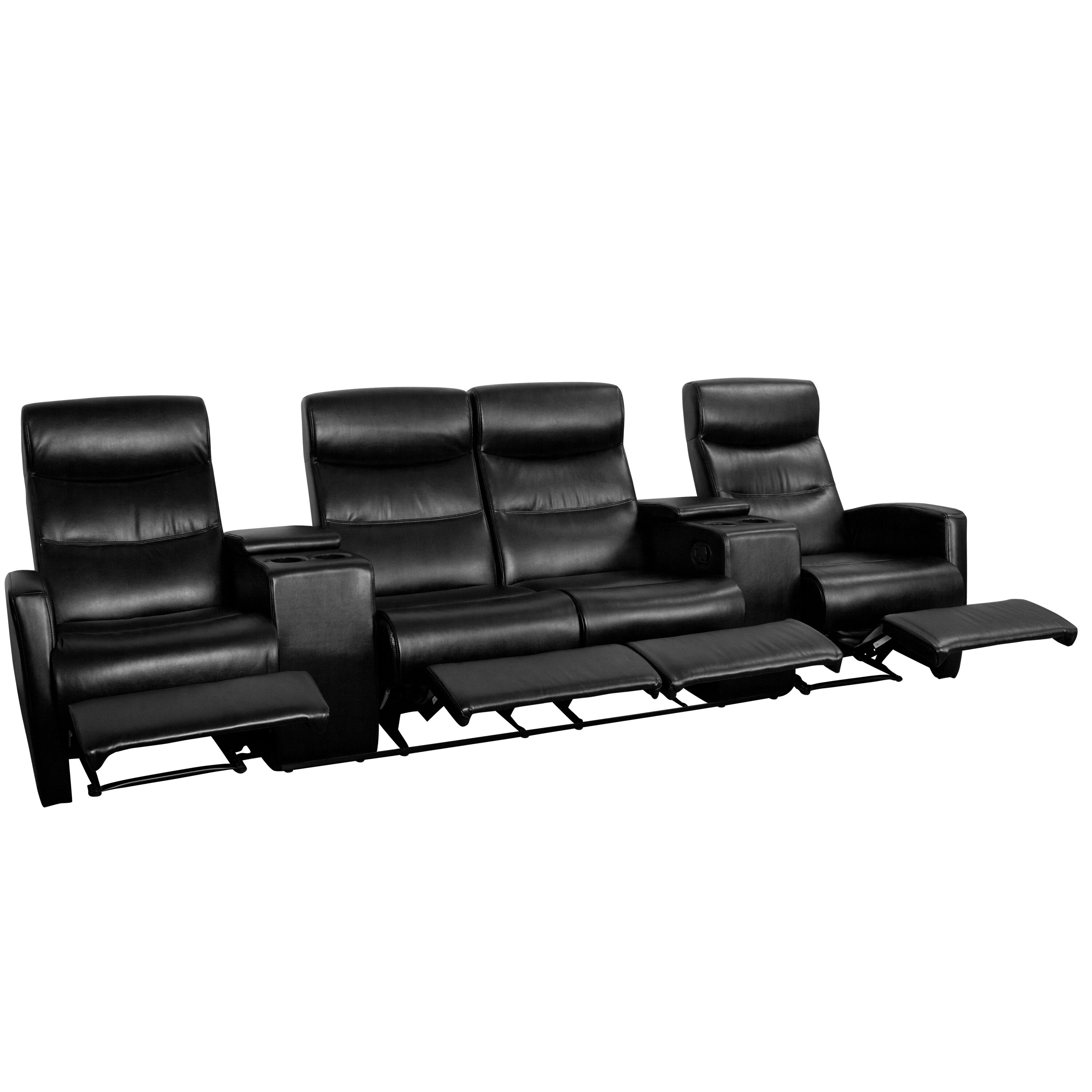 Flash furniture 4 seat home theater recliner reviews for Furniture 4 your home