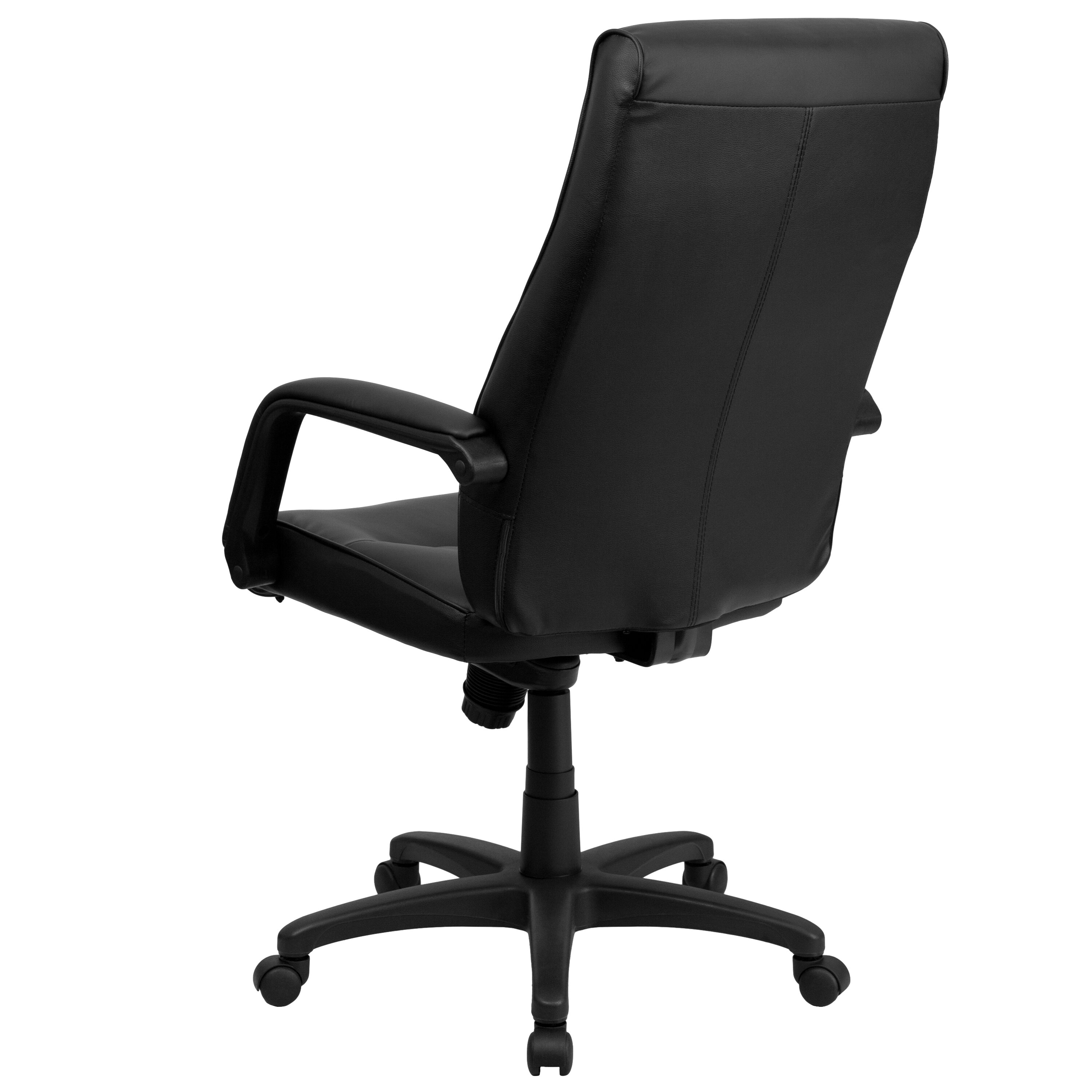 Flash Furniture High Back Leather Executive Chair With Memory Foam Padding A