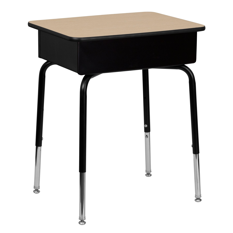 Flash Furniture Laminate Adjustable Height Open Front Desk Reviews Wayfair Supply