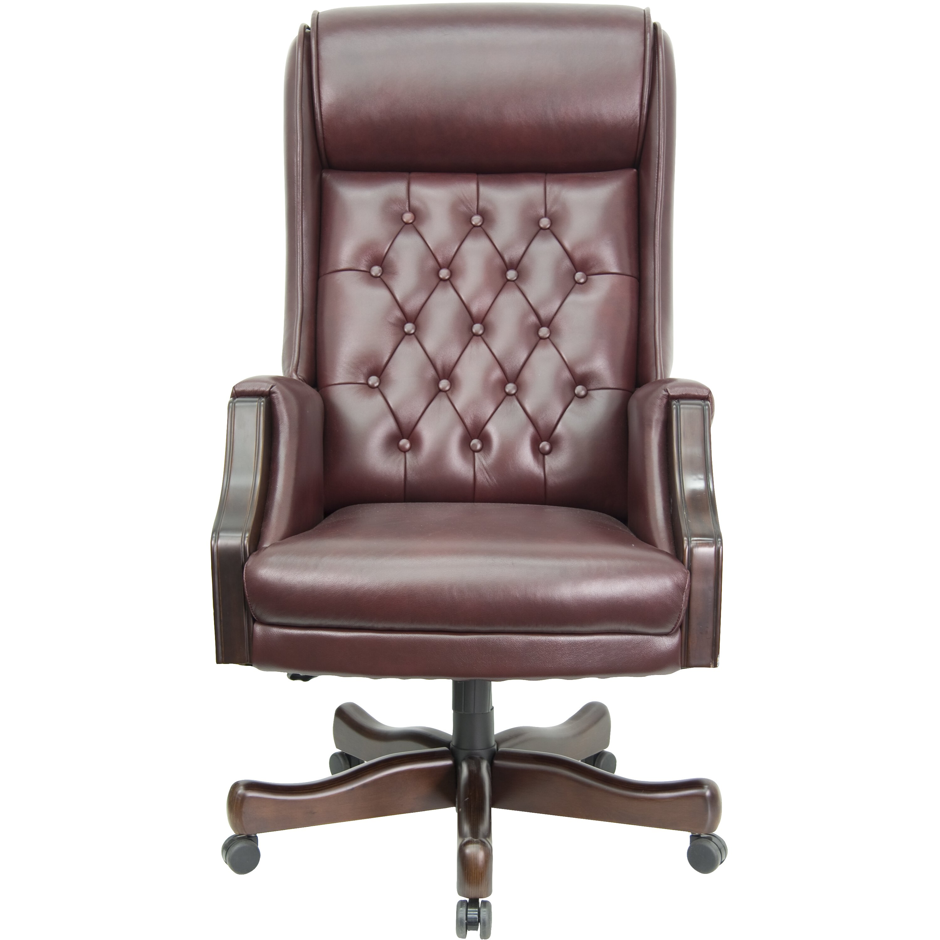 Flash Furniture High Back Leather Executive Office Chair Reviews Wayfair