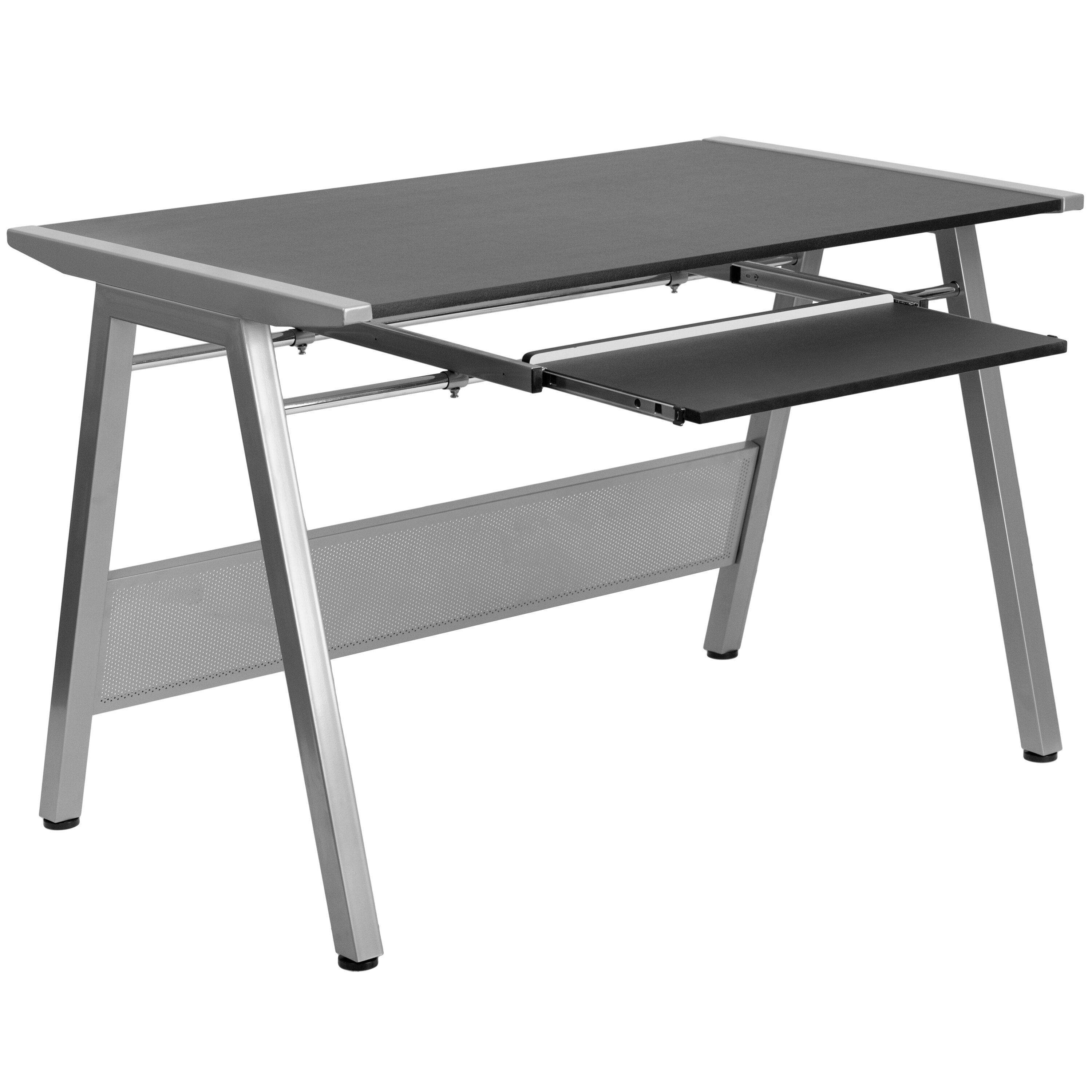 Flash Furniture Computer Desk With Pull Out Keyboard