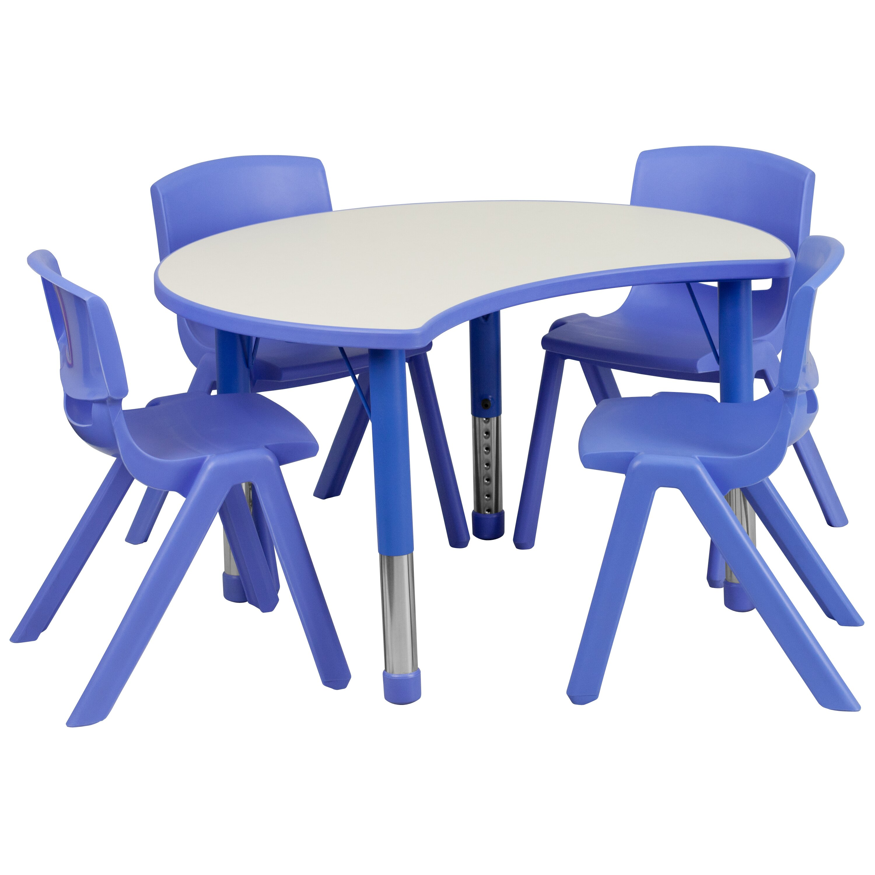 Flash furniture 5 piece kidney activity table reviews for School furniture 4 less reviews