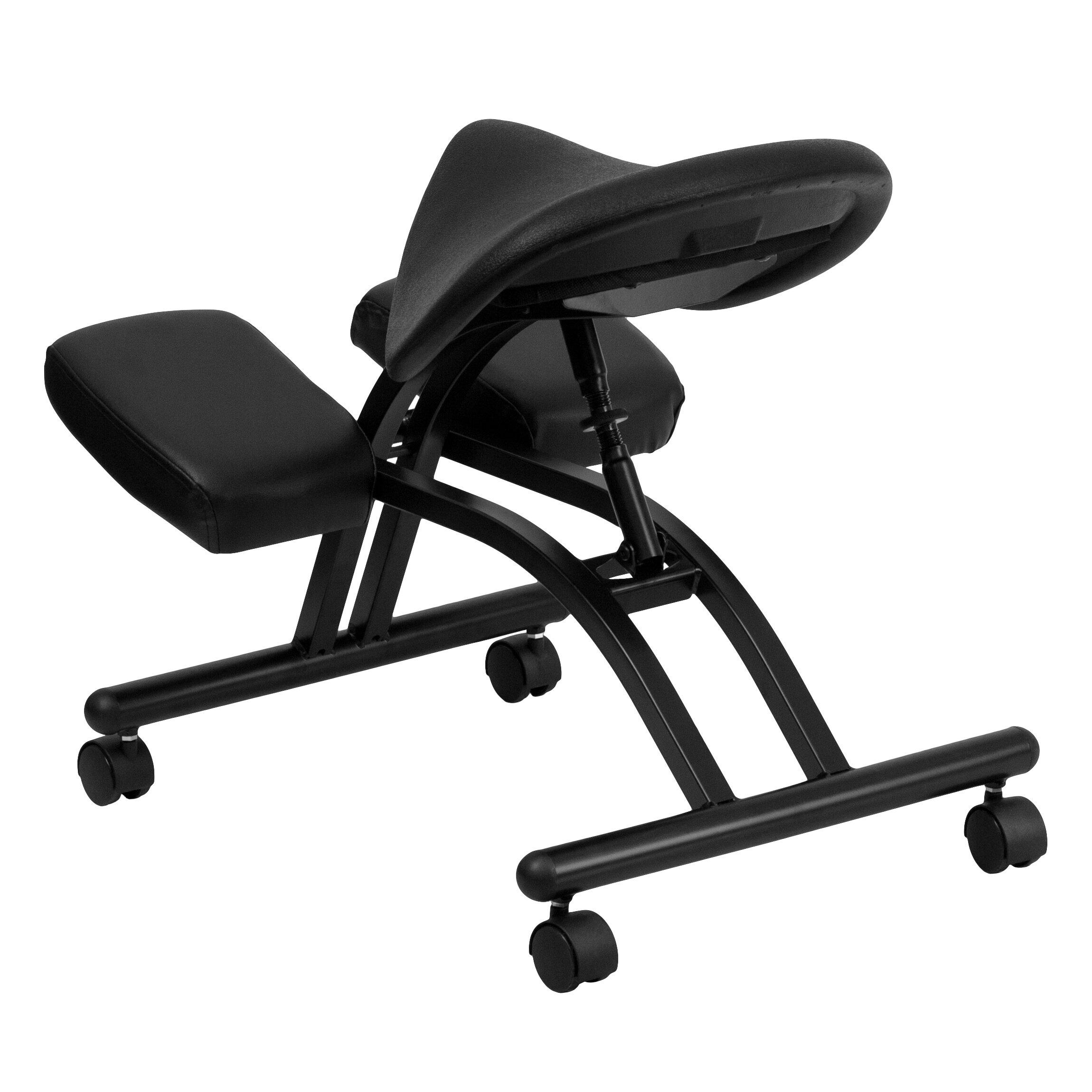 Flash Furniture Ergonomic Kneeling Chair with Saddle Seat