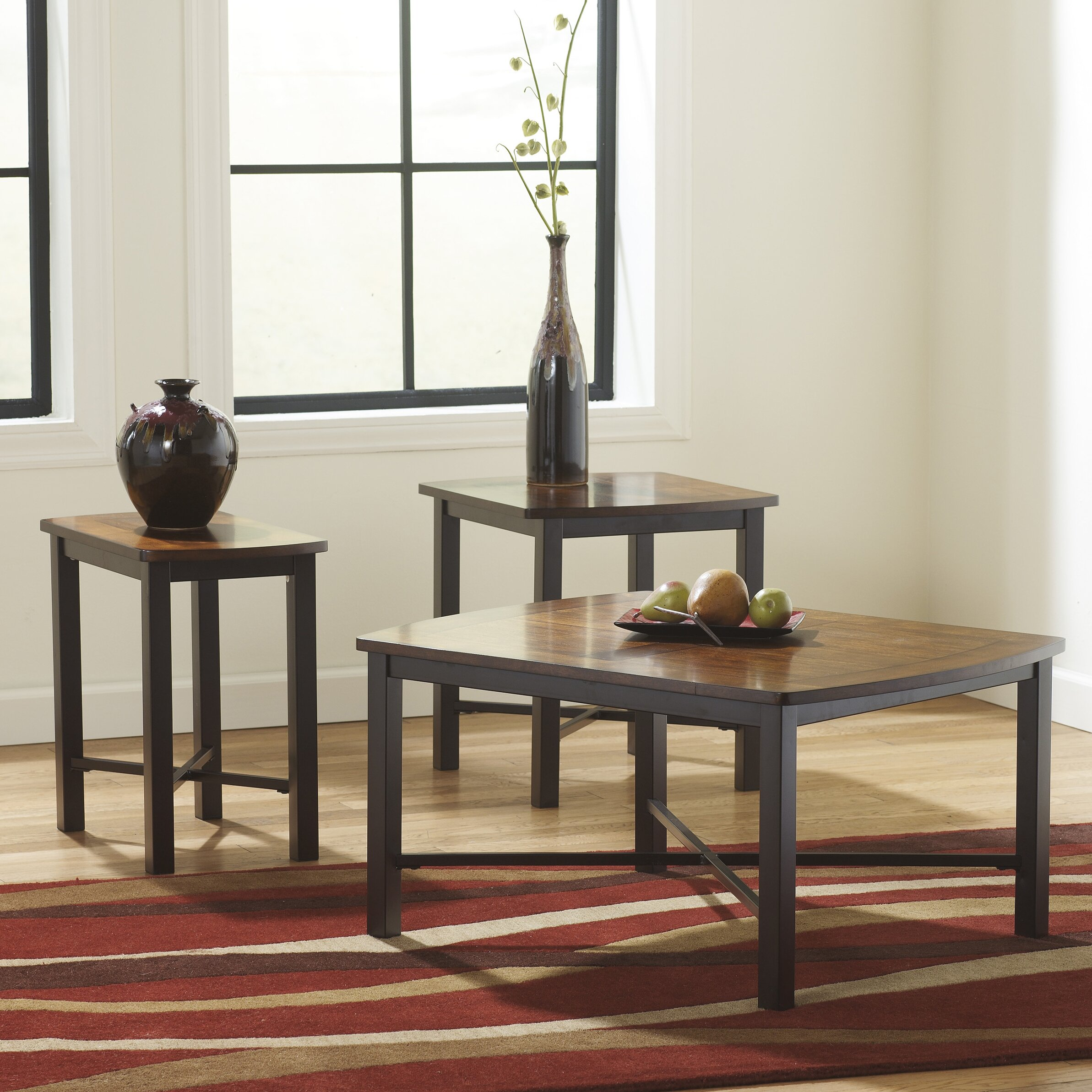 Flash Furniture Fletcher 3 Piece Coffee Table Set Reviews Wayfair