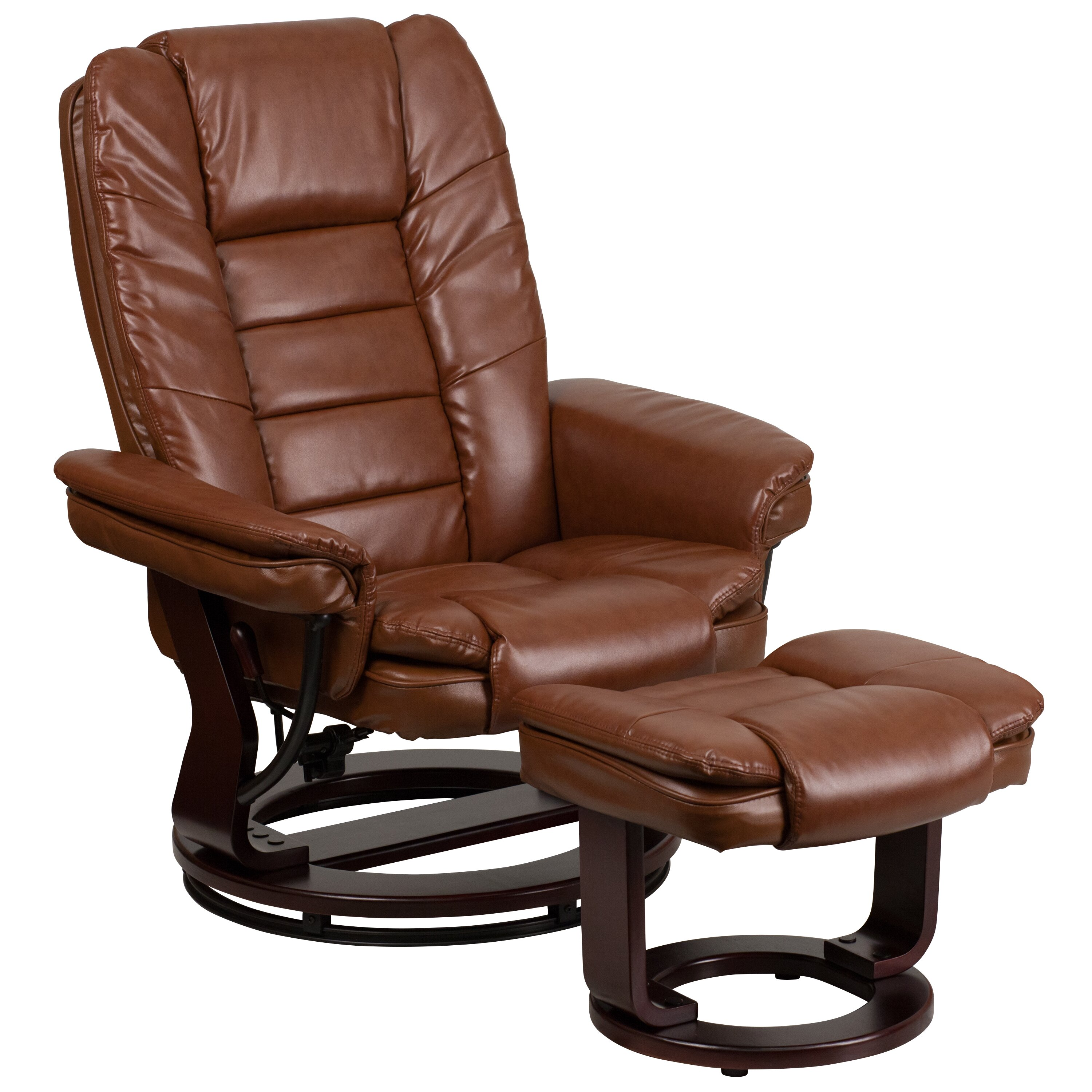 Flash Furniture Recliner and Ottoman & Reviews
