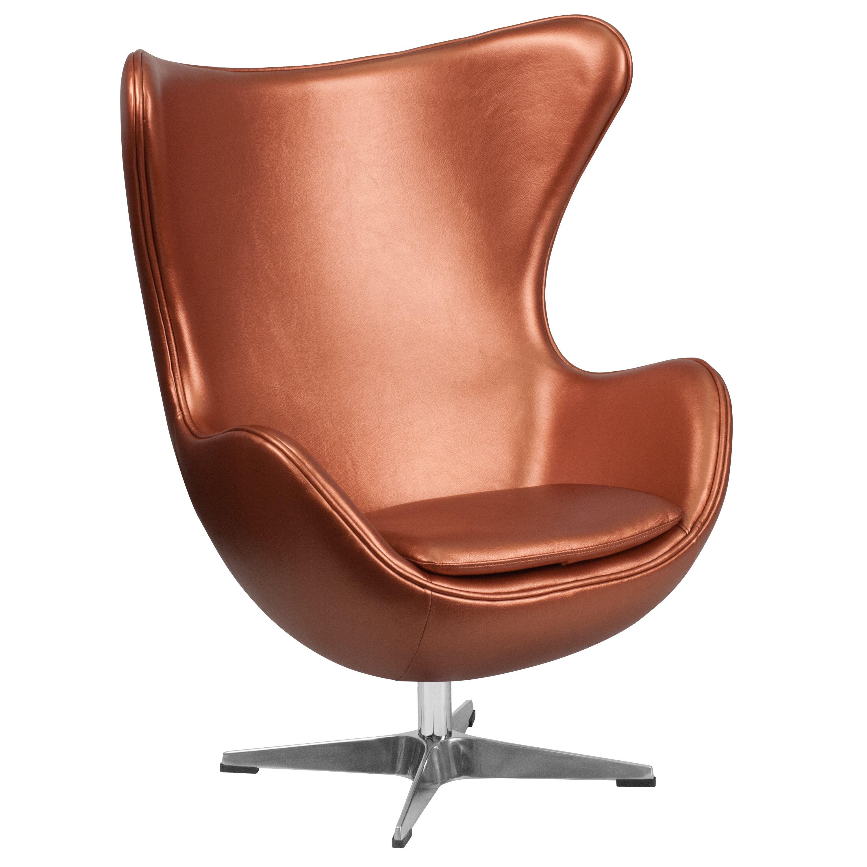Flash Furniture Leather Egg Lounge Chair Wayfair