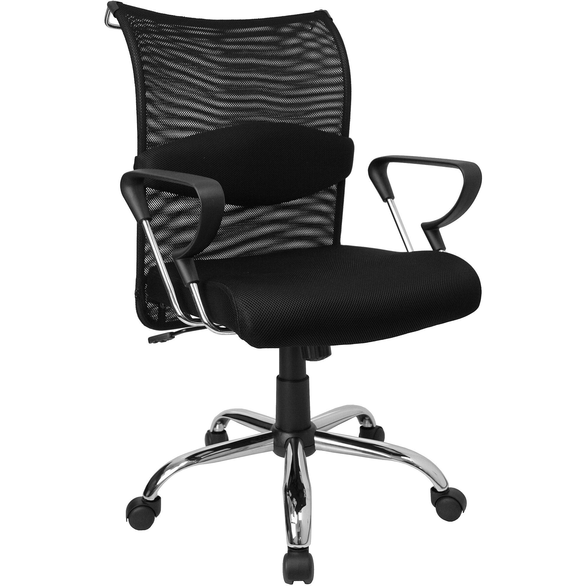 Flash Furniture Mid Back Chair Flash Furniture Mid Back Black Mesh Chair W Padded Mesh Flash