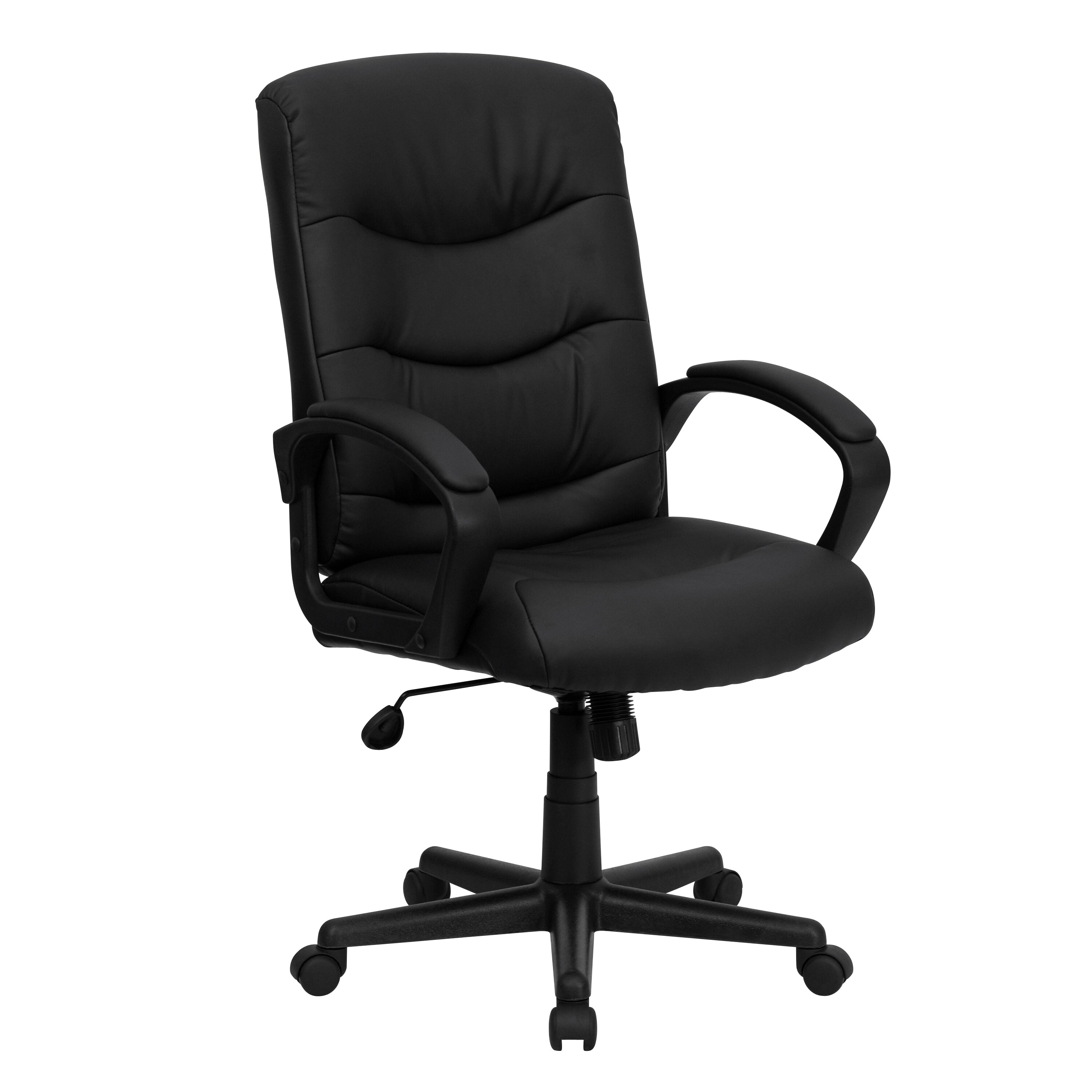 Flash Furniture Mid Back Leather Executive Chair Reviews Wayfair Supply