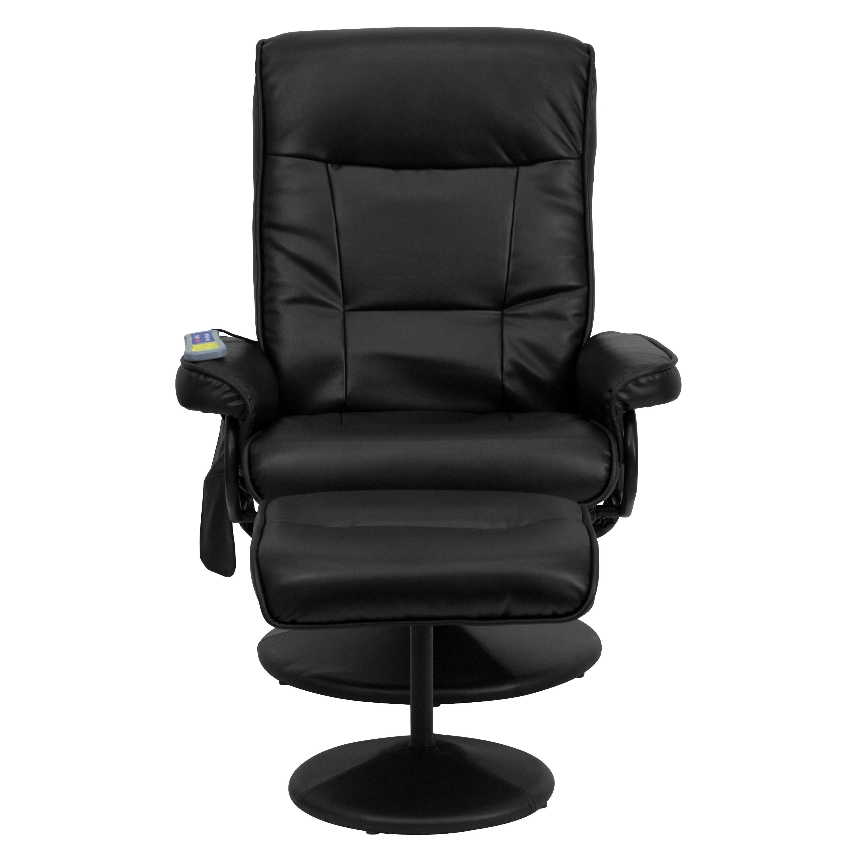 Flash Furniture Heated Reclining Massage Chair Ottoman Reviews Wayfair