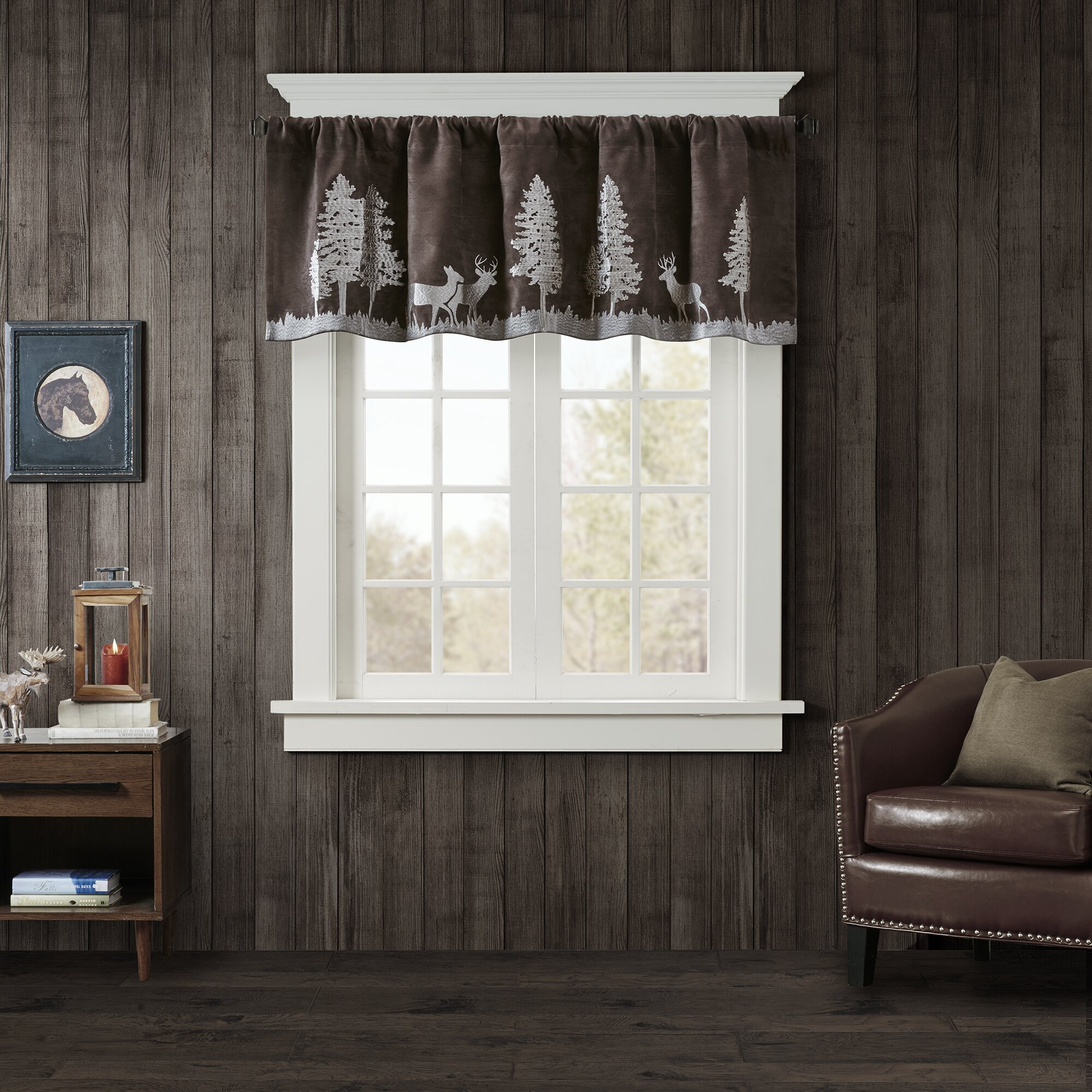 Woolrich Tree Faux Suede Curtain Valance Wayfair