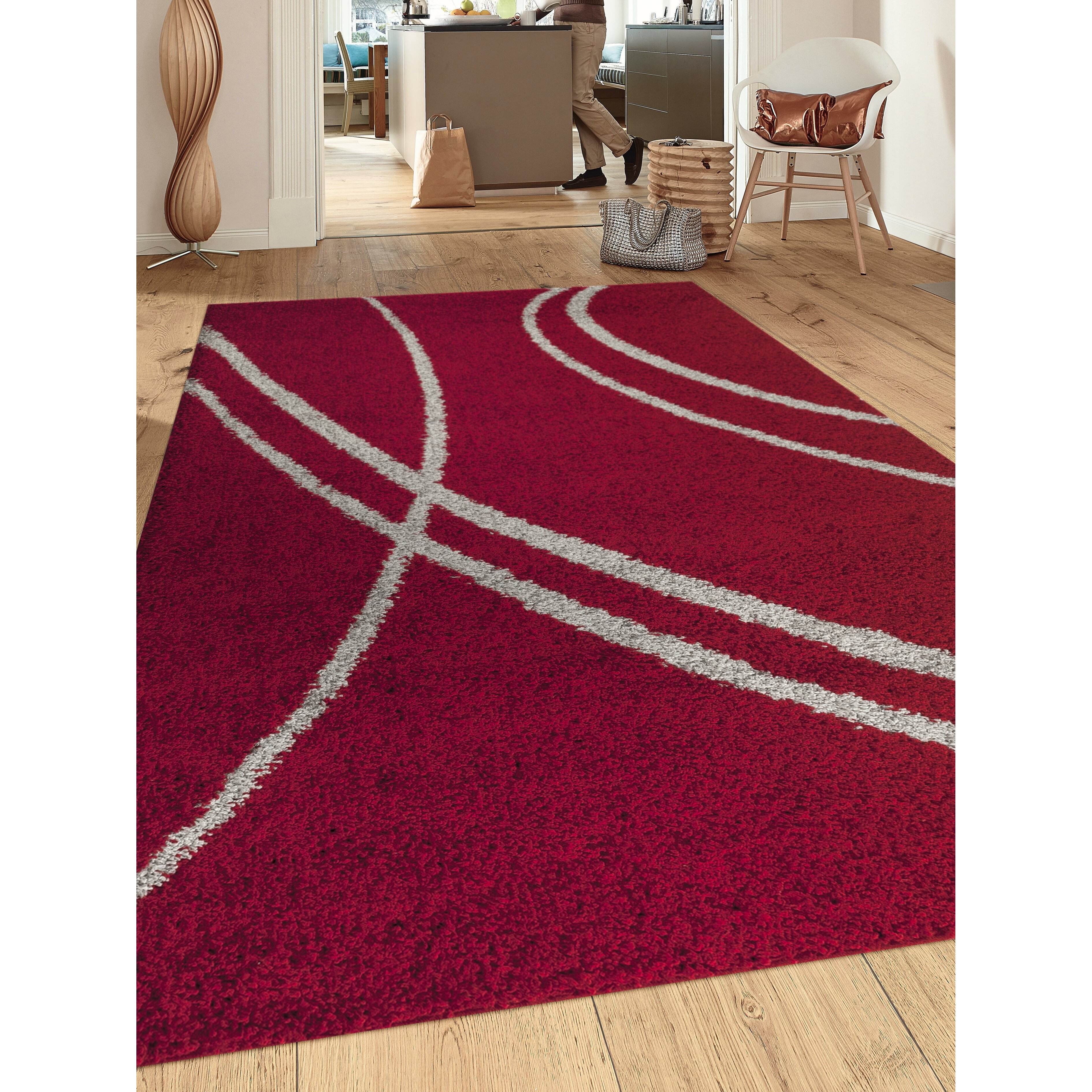 world rug gallery florida red gray area rug wayfair supply. Black Bedroom Furniture Sets. Home Design Ideas