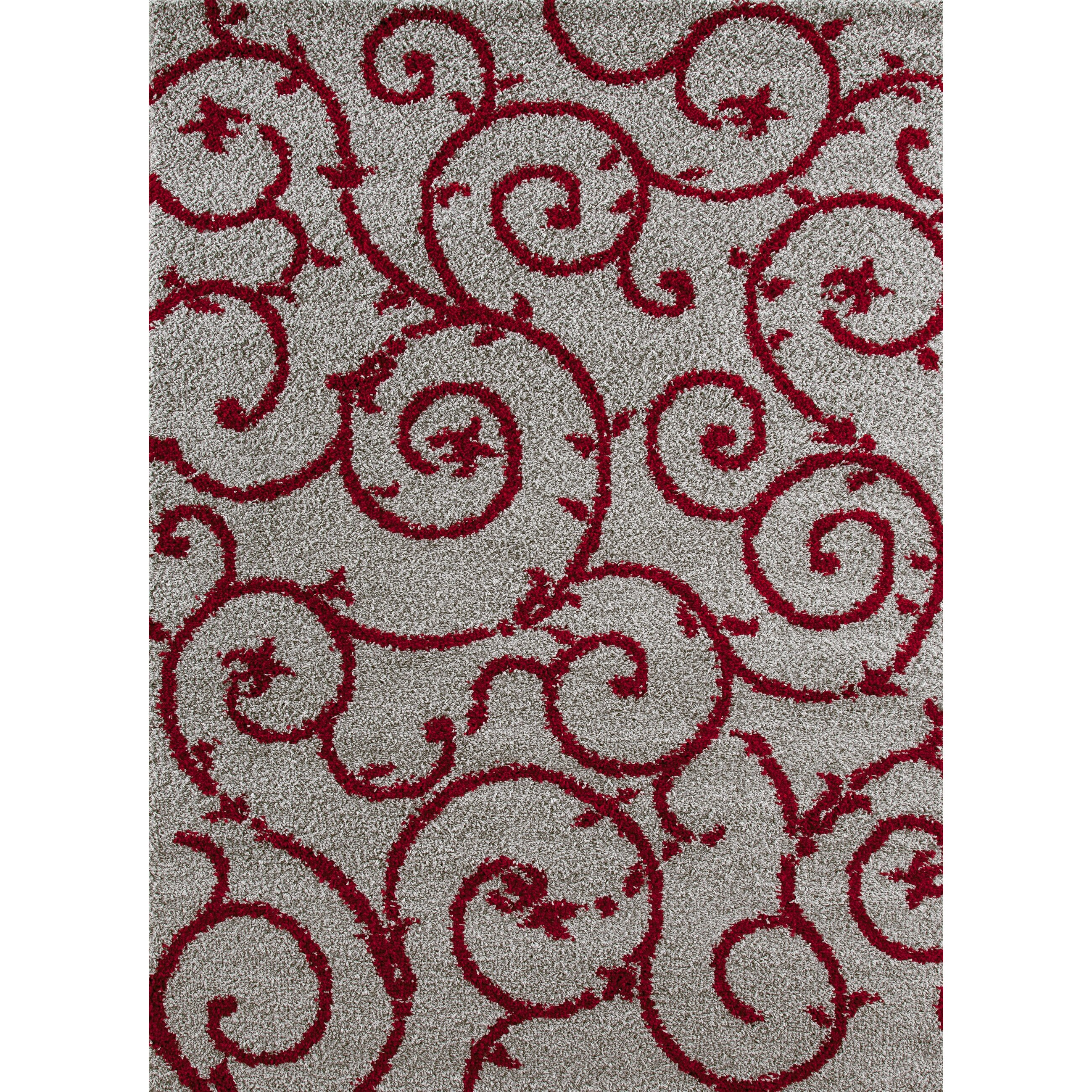world rug gallery florida red gray area rug reviews wayfair. Black Bedroom Furniture Sets. Home Design Ideas