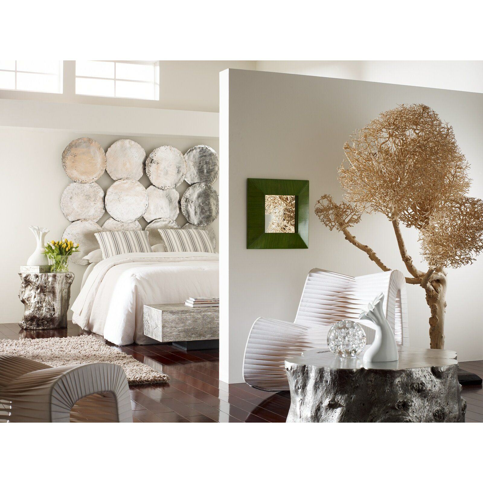 phillips collection galvanized 4 piece circle wall d cor. Black Bedroom Furniture Sets. Home Design Ideas